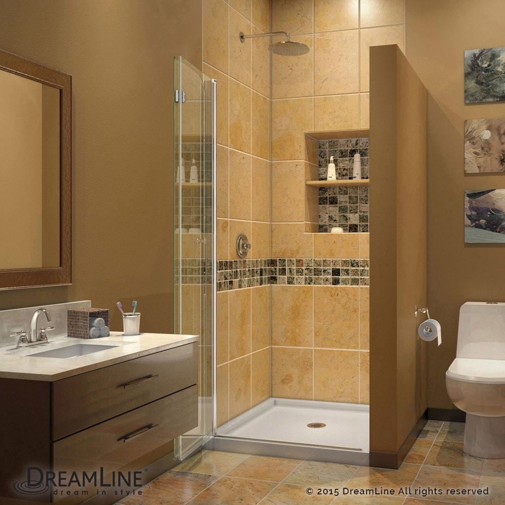 Shop DreamLine Aqua Fold 36 in. D x 36 in. W x 74 3/4 in. H ...