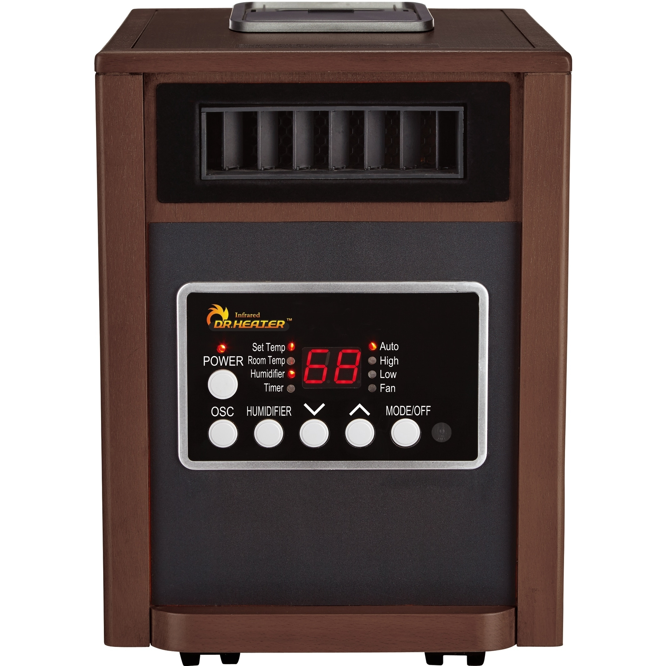 Shop Dr Infrared Heater DR998, With Humidifier, Oscillation Fan, Walnut    Free Shipping Today   Overstock.com   18689959