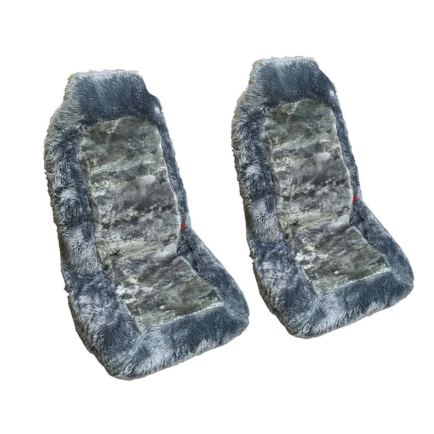 Shop Sheepskin Auto Seat Covers Front Car Seats Two Gray