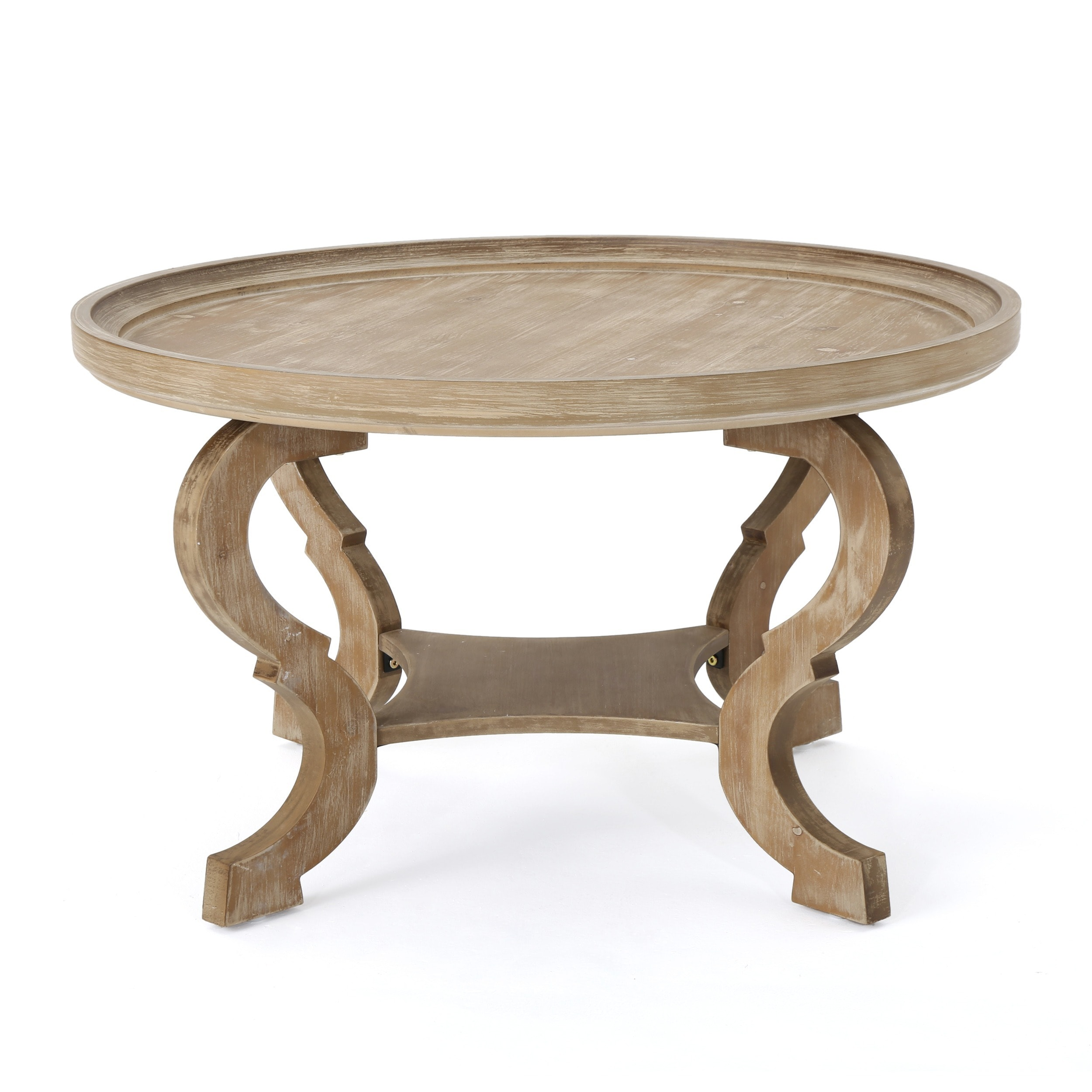 Althea Round Wood Coffee Table By Christopher Knight Home On Free Shipping Today Com 18696541