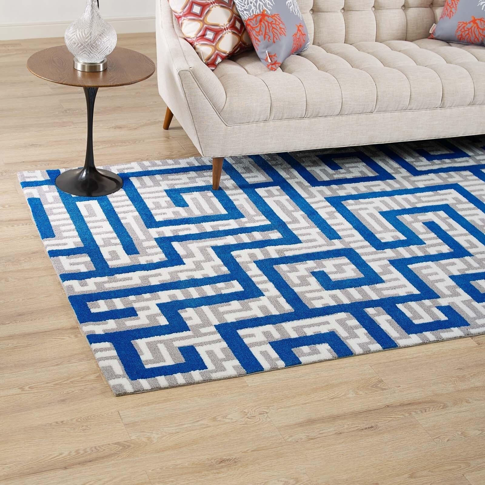 Shop Nahia Geometric Maze 8x10 Area Rug - 8\' x 10\' - On Sale - Free ...