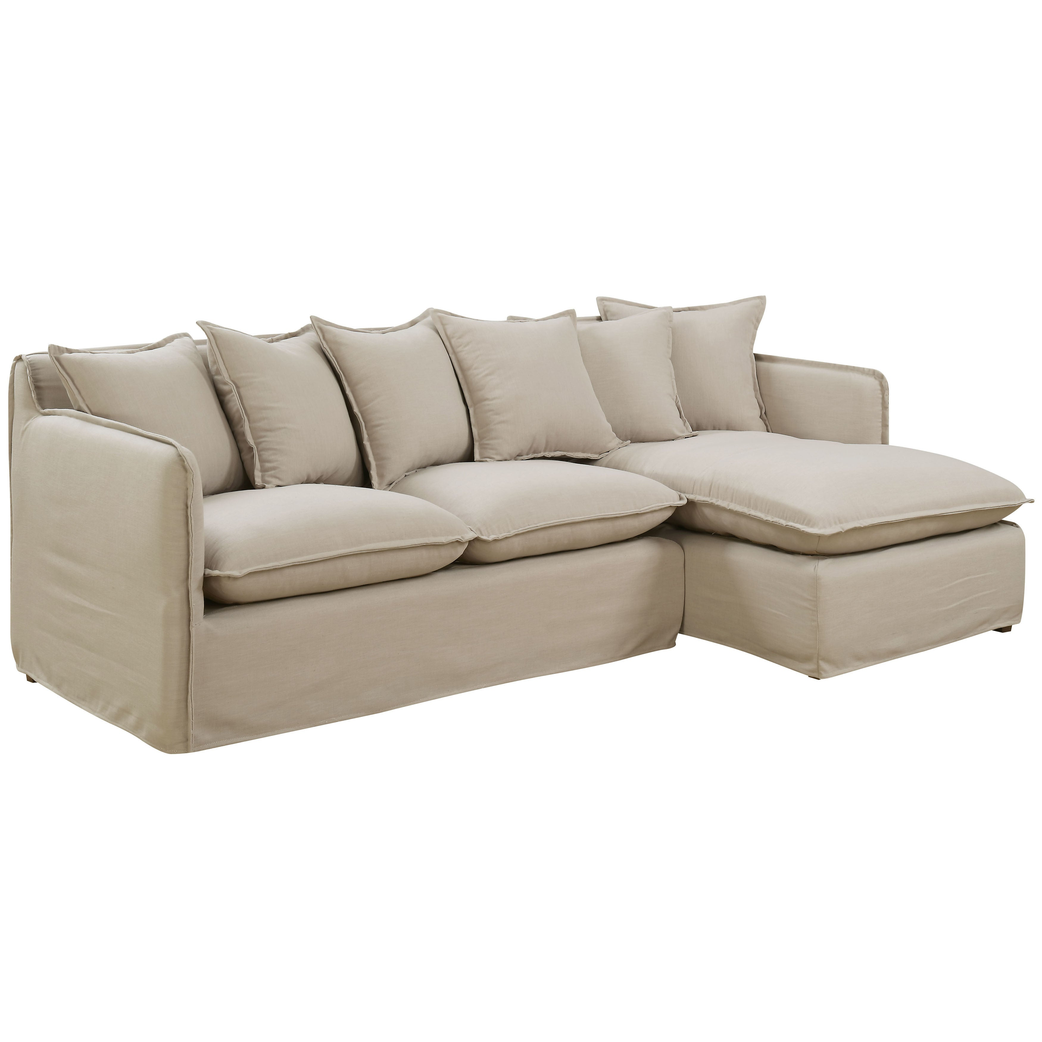 Shop Furniture Of America Telermon Classic Slipcover L Shaped Wooden  Sectional With Fabric Upholstery And Foam Filling   Free Shipping Today    Overstock.com ...