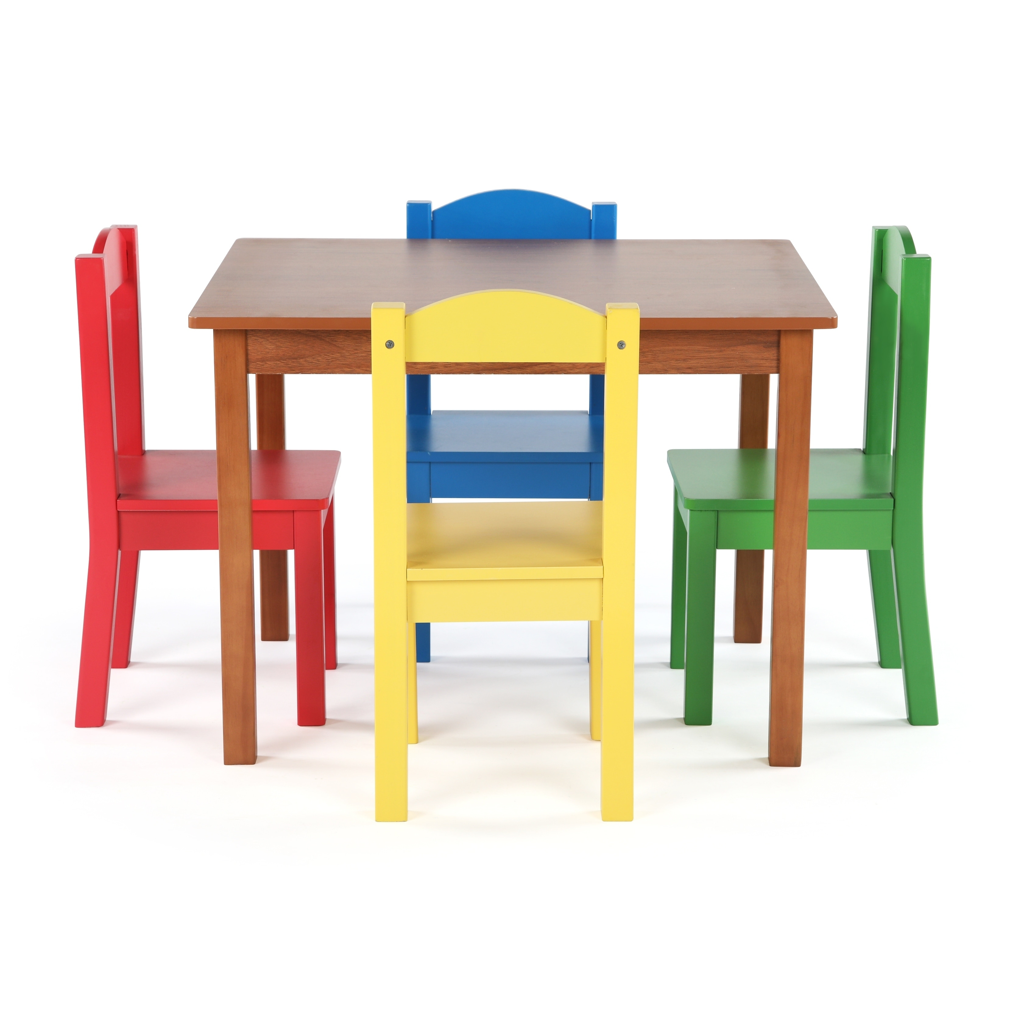 d525b60c04c85 Shop Highlight Collection Kids Wood Table   4 Chairs Set