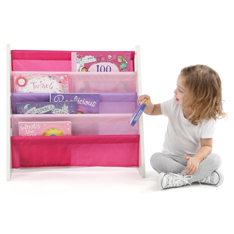 Shop Friends Kids Book Rack Storage Bookshelf White Pink Purple