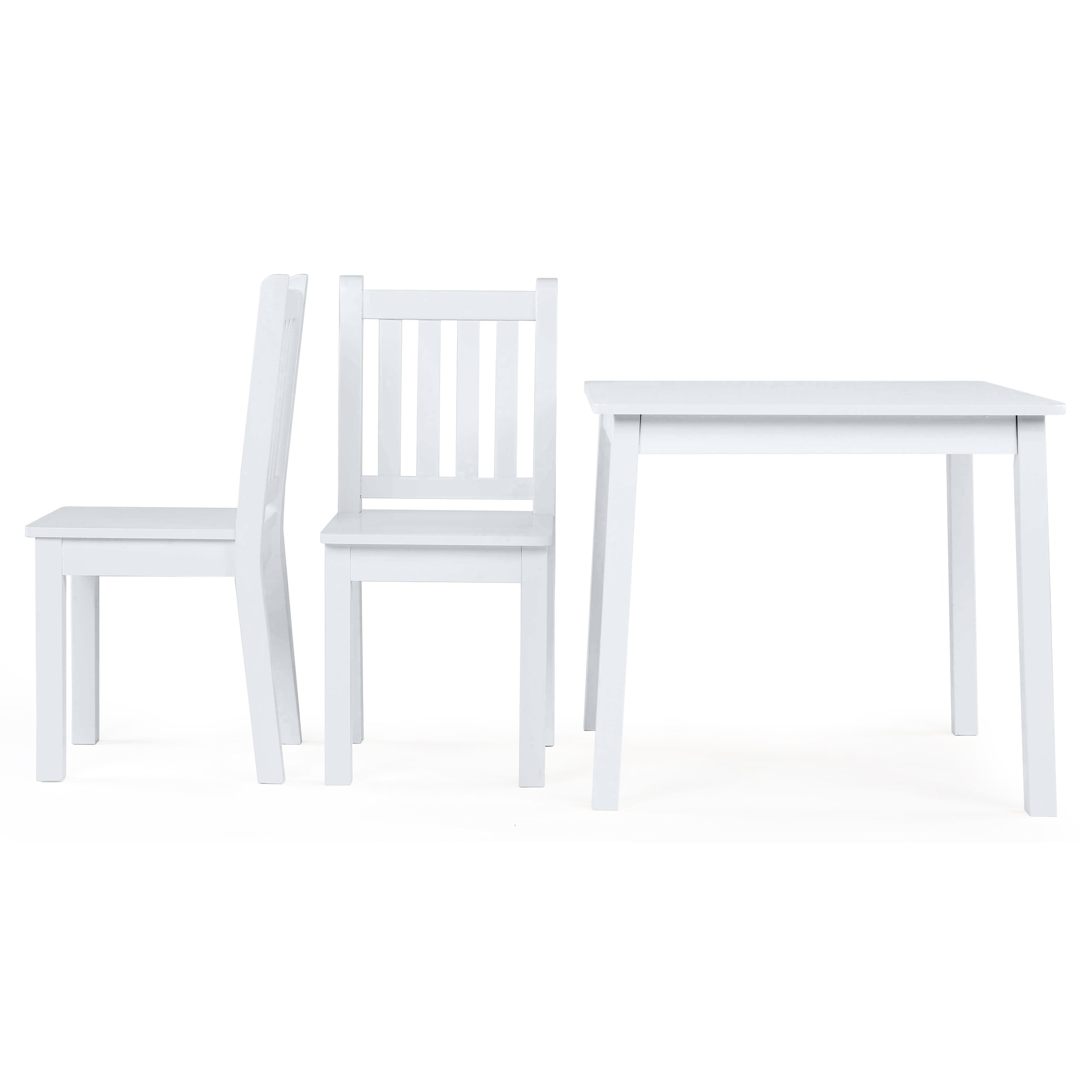 Daylight Collection Kids Large White Wood Table u0026 2 Chairs Set - Free Shipping Today - Overstock - 24794142  sc 1 st  Overstock & Daylight Collection Kids Large White Wood Table u0026 2 Chairs Set ...