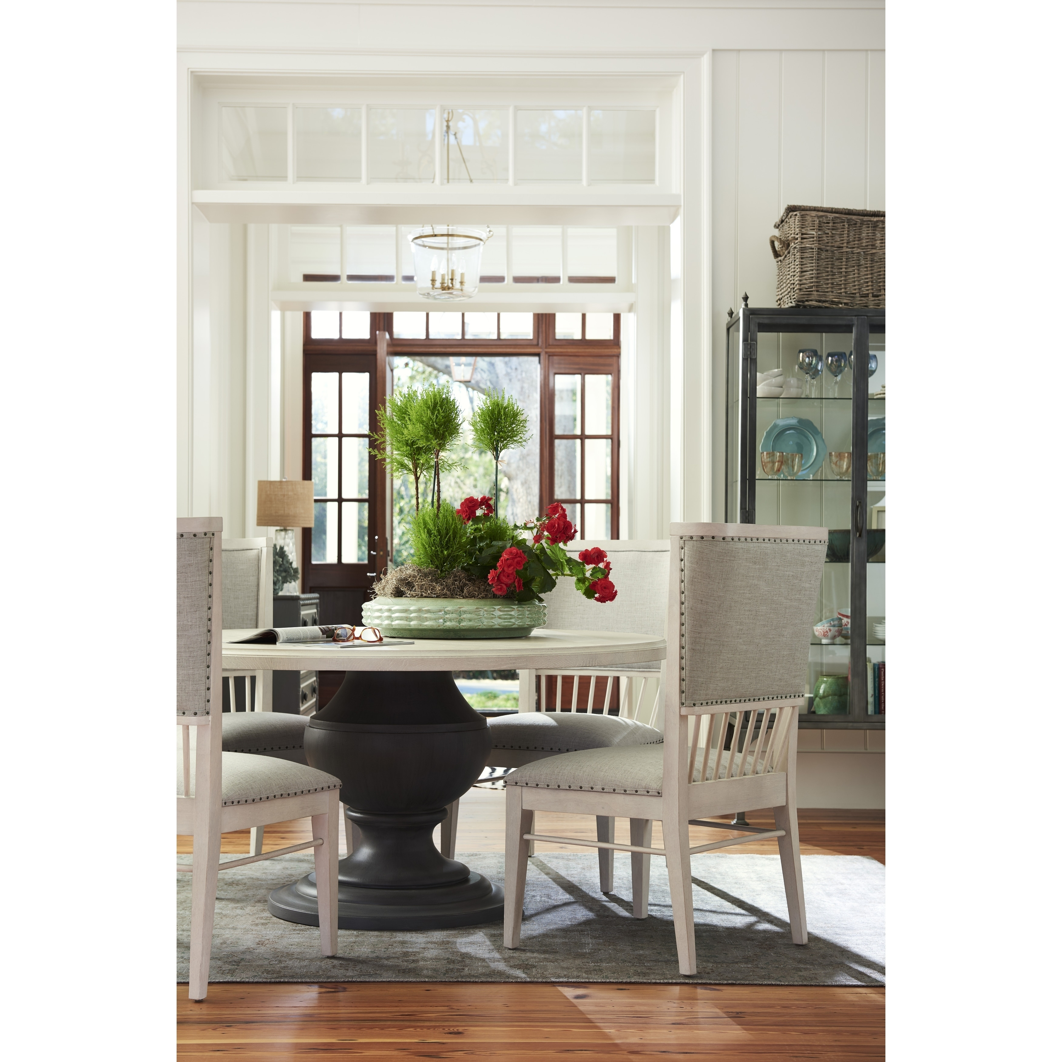 Paula Deen Bungalow Shingle And Bluff Round Dining Table   Free Shipping  Today   Overstock   24794587