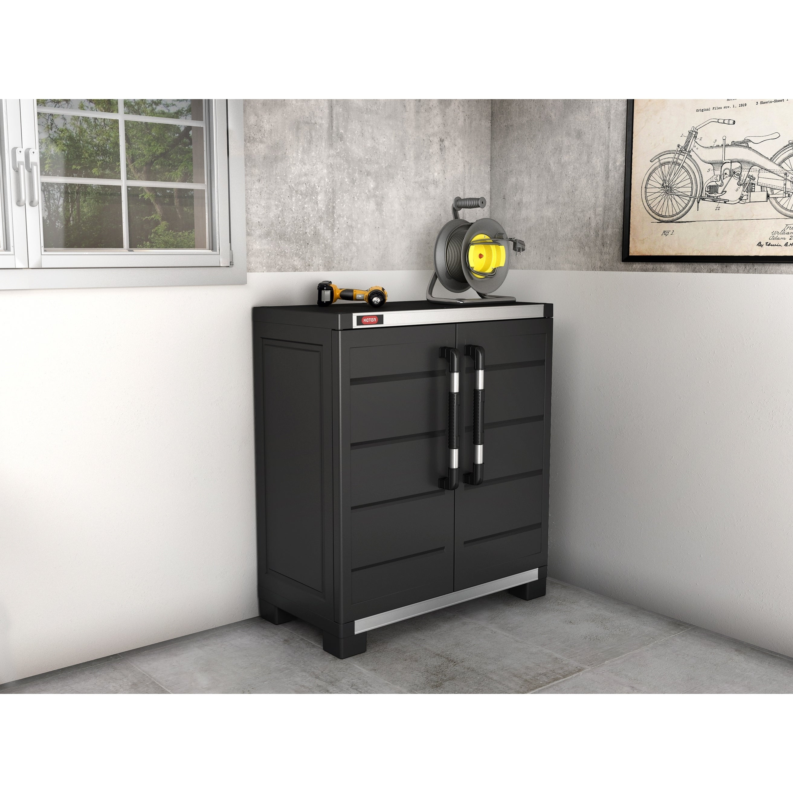 Shop Keter XL Pro Plastic Resin Utility Storage Cabinet With Adjustable  Shelves   Free Shipping Today   Overstock.com   18705326