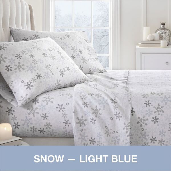 Shop Becky Cameron Premium Ultra Cozy 4 Piece Flannel Bed Sheet Set   On  Sale   Free Shipping Today   Overstock.com   18705451