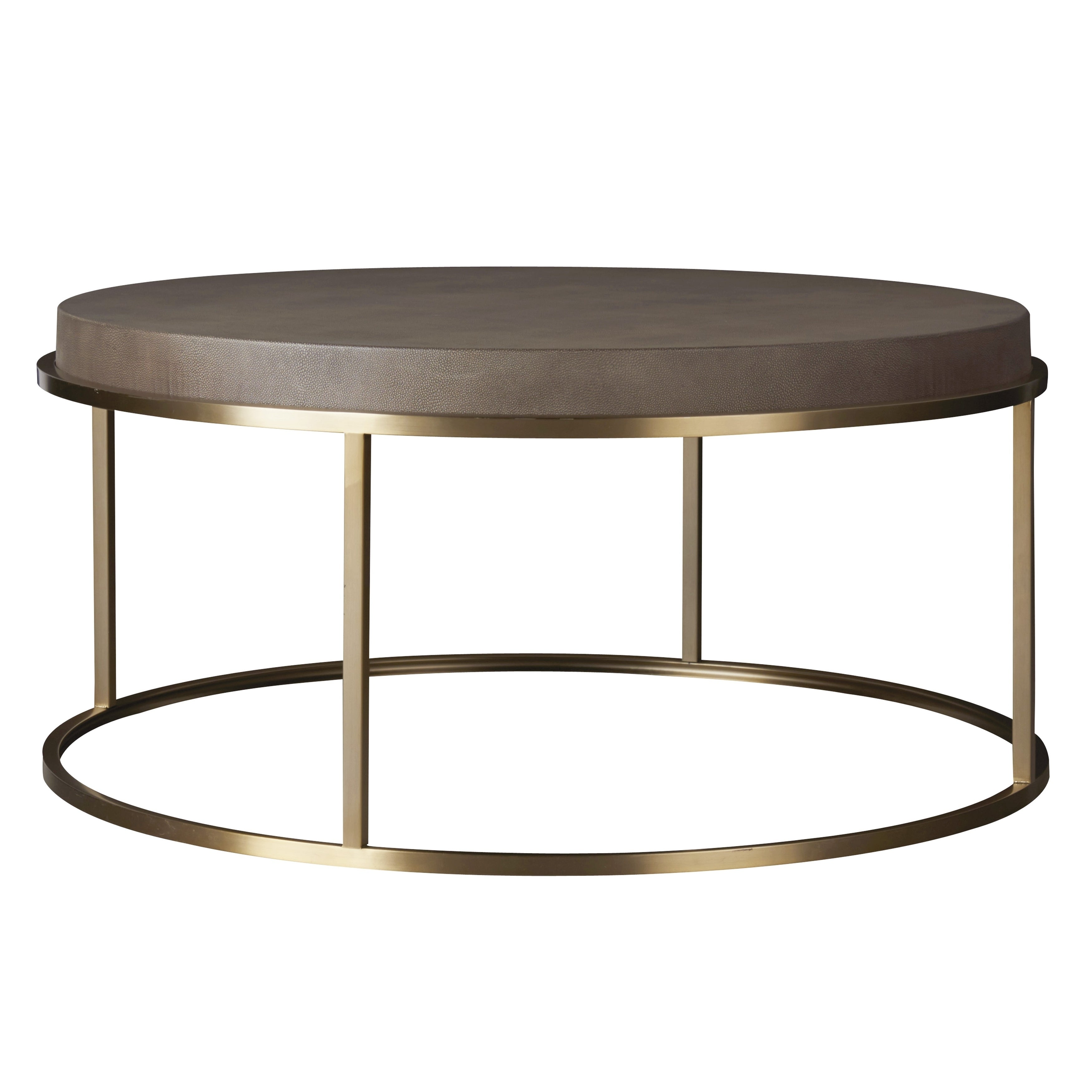 Shop modern portobello and brushed brass round bennett cocktail table free shipping today overstock com 18705486
