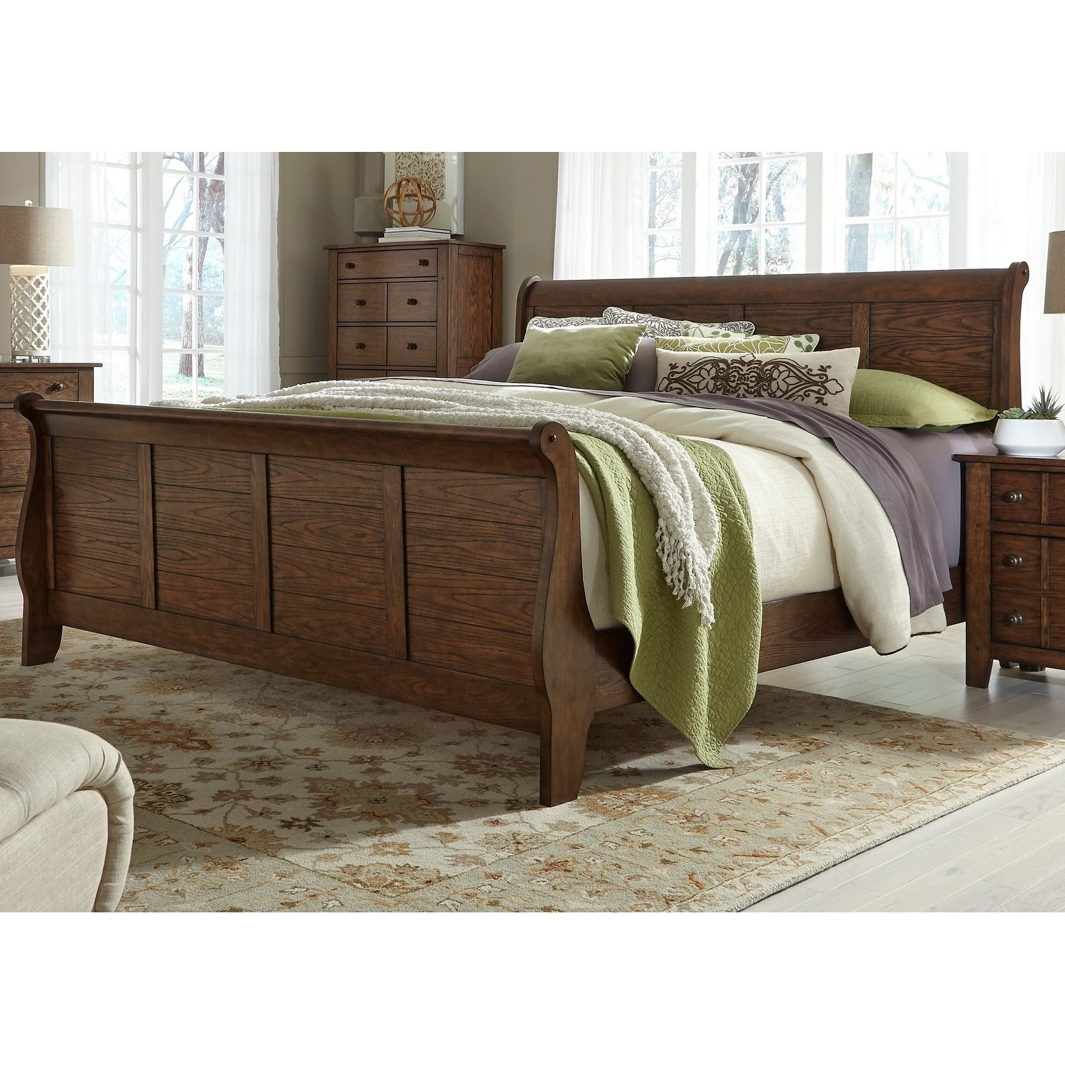 Grandpas Cabin Pebble Rock King Sleigh Bed - Free Shipping Today ...
