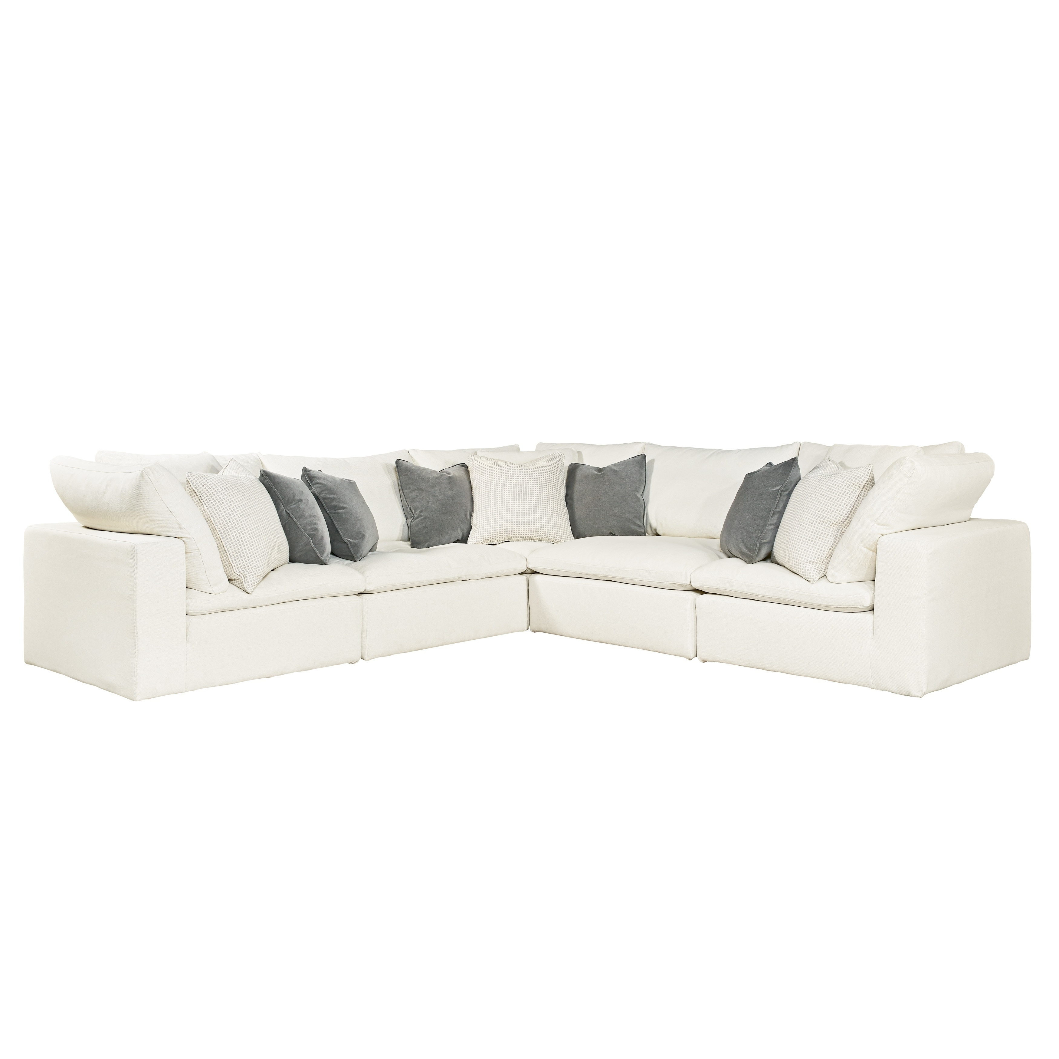 Curated Ivory 5-piece Palmer Sectional Sofa