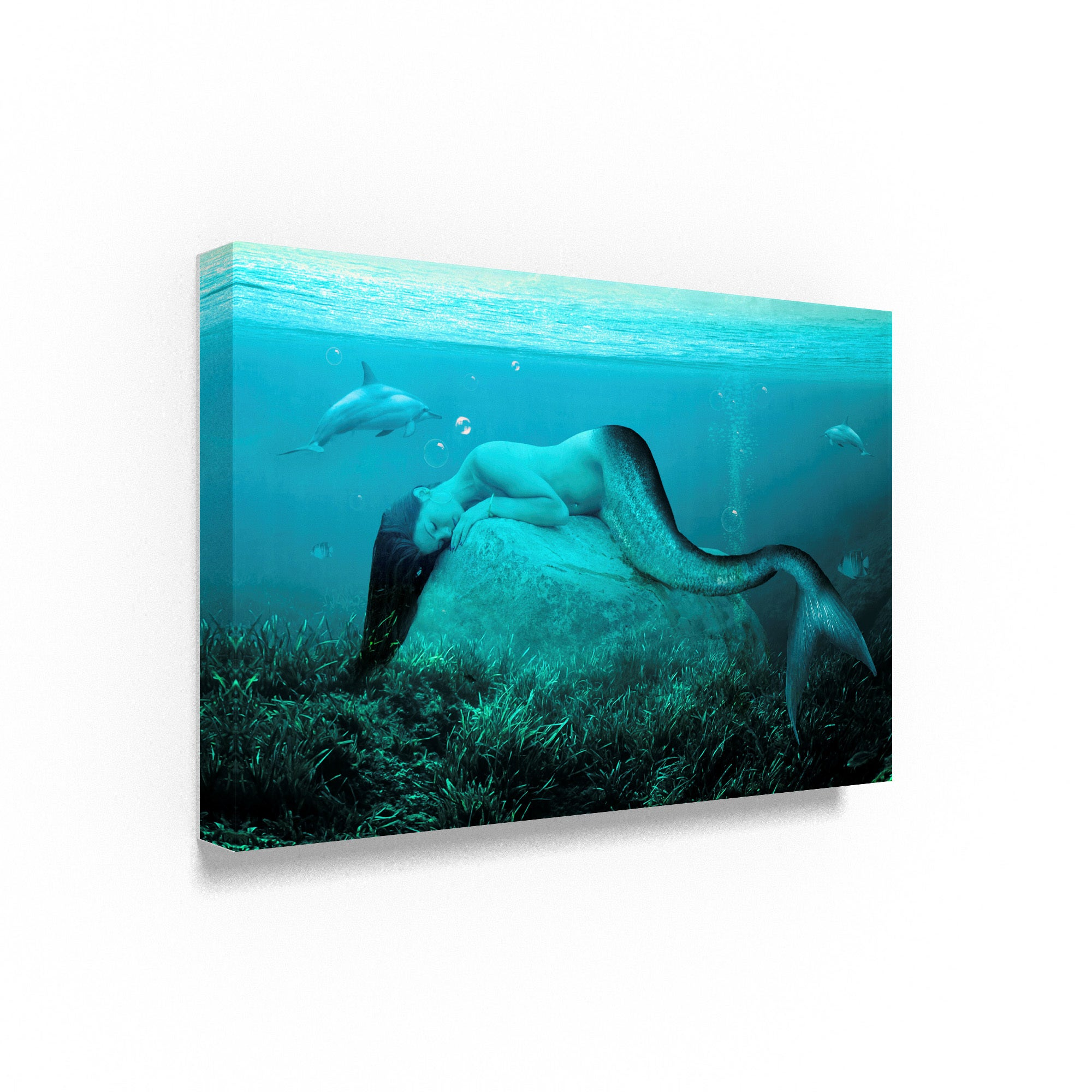 Shop Ata Alishahi \'Sleeping Mermaid\' Canvas Art - On Sale - Free ...