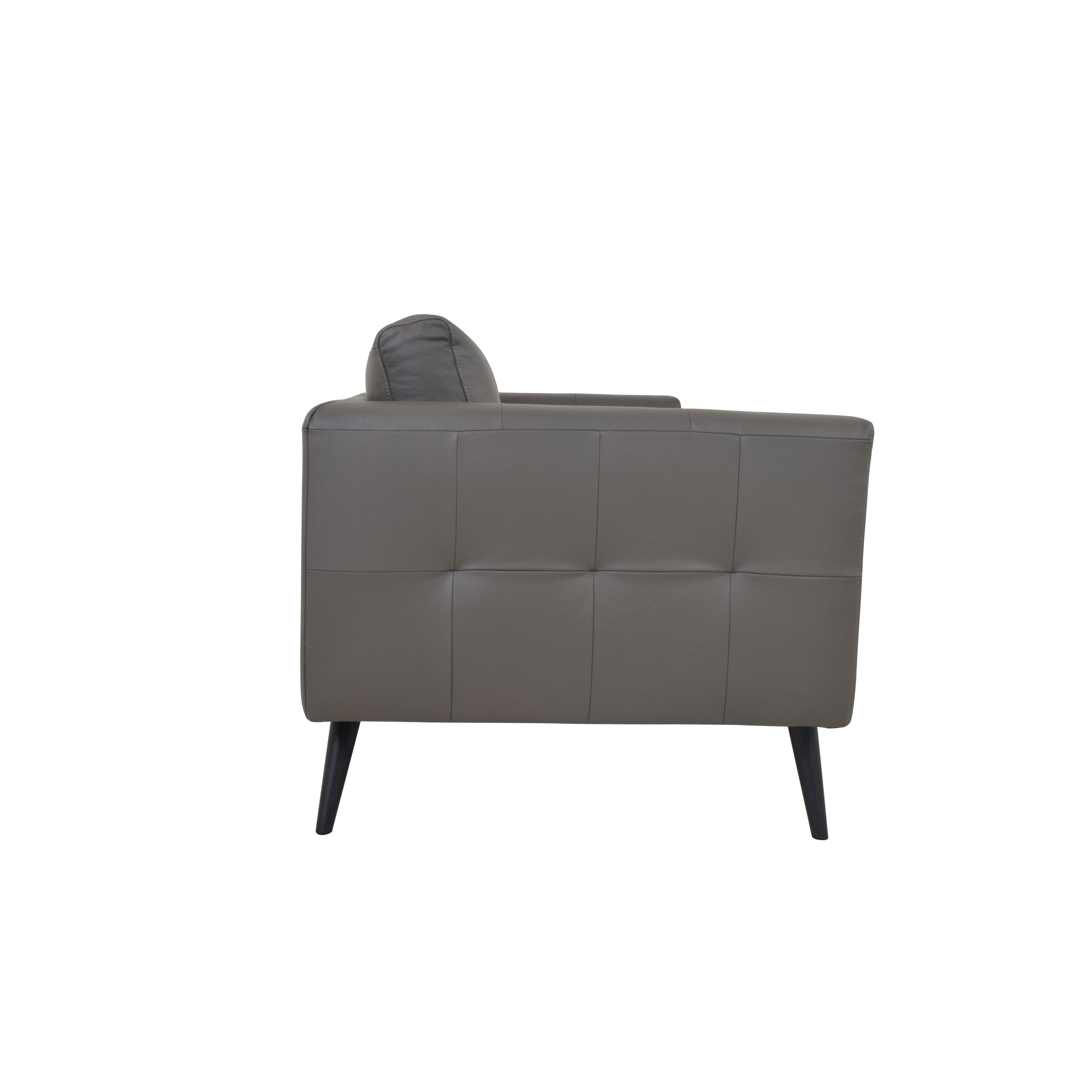 Shop Aurelle Home Cortado Tufted Scandinavian Leather Sofa   On Sale   Free  Shipping Today   Overstock.com   18706992