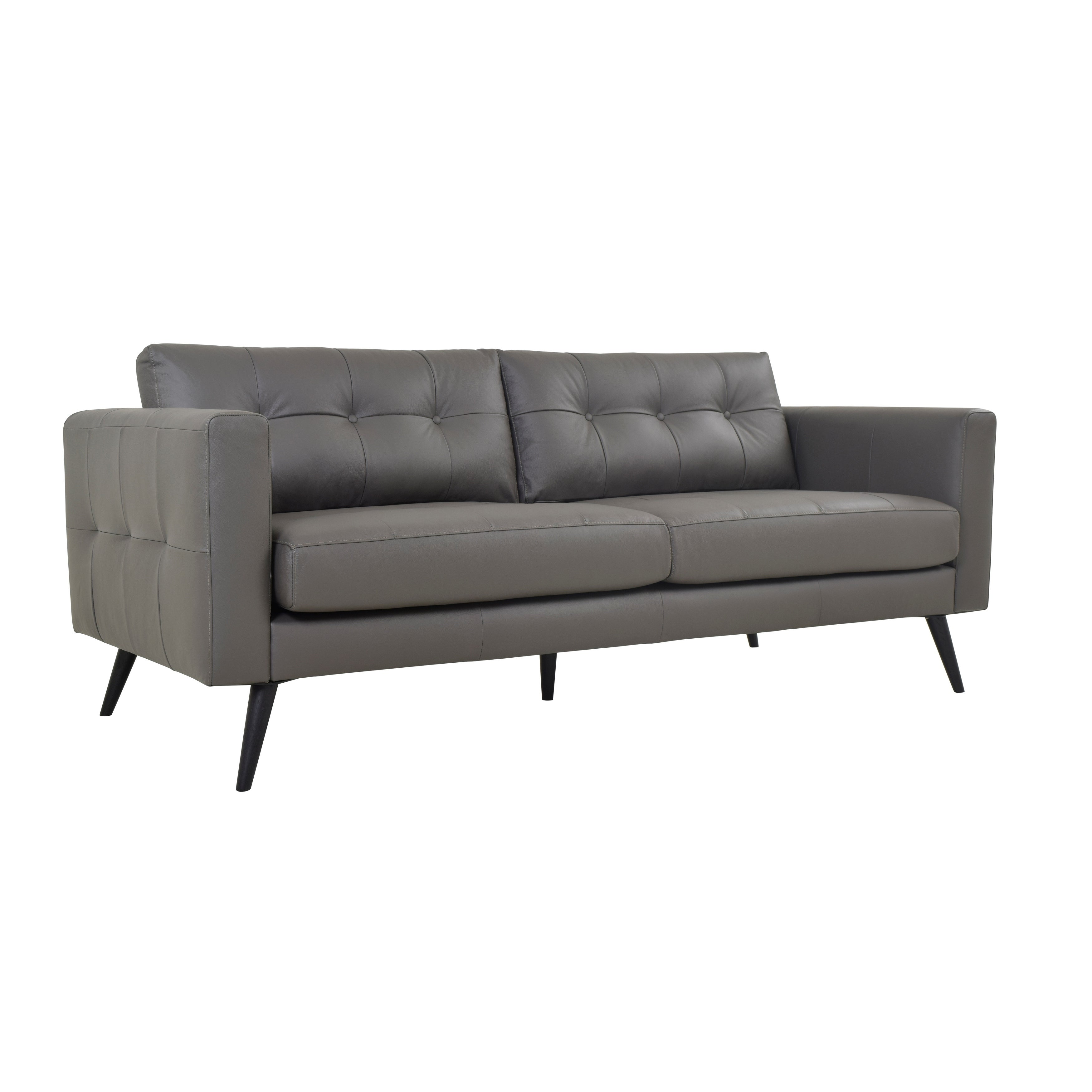 Aurelle Home Scandinavian Soft Leather Sofa On Free Shipping Today 18706992