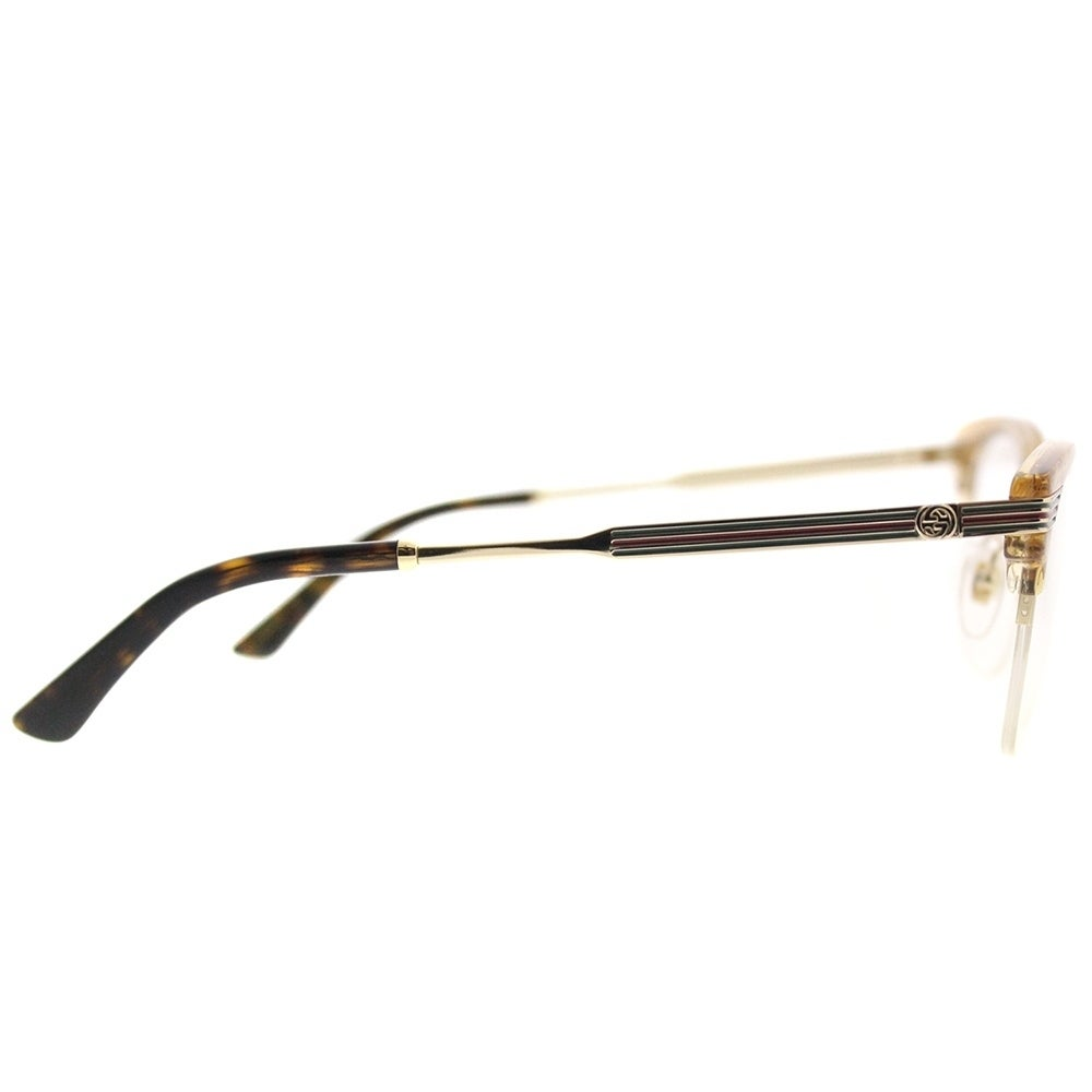 f3c9a6b165ea4 Shop Gucci Clubmaster GG 0201O 004 Women Gold Glitter Frame Eyeglasses -  Free Shipping Today - Overstock - 18730152