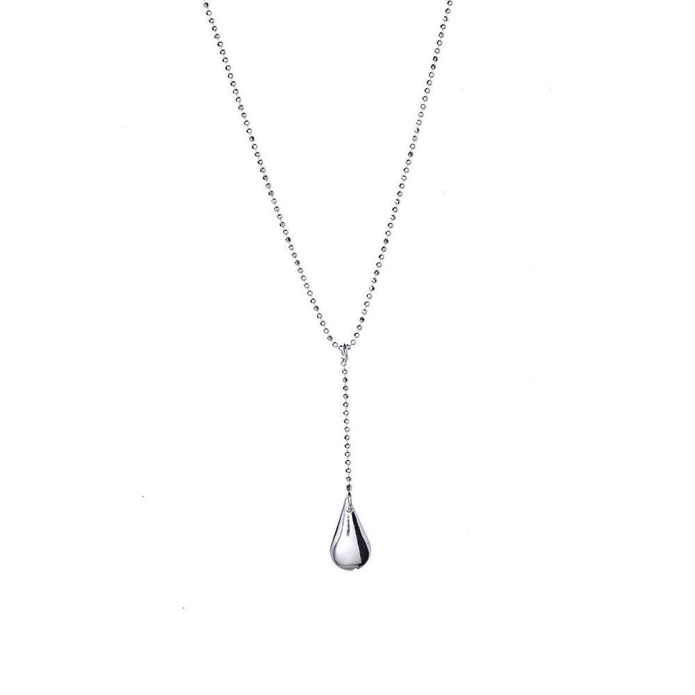 Shop pori jewelers sterling silver teardrop pendant in bead chain y shop pori jewelers sterling silver teardrop pendant in bead chain y necklace unique on sale free shipping on orders over 45 overstock aloadofball Image collections