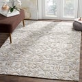 Safavieh Hand-Knotted Paseo Grey/ Cream Viscose Rug (9' x 12')