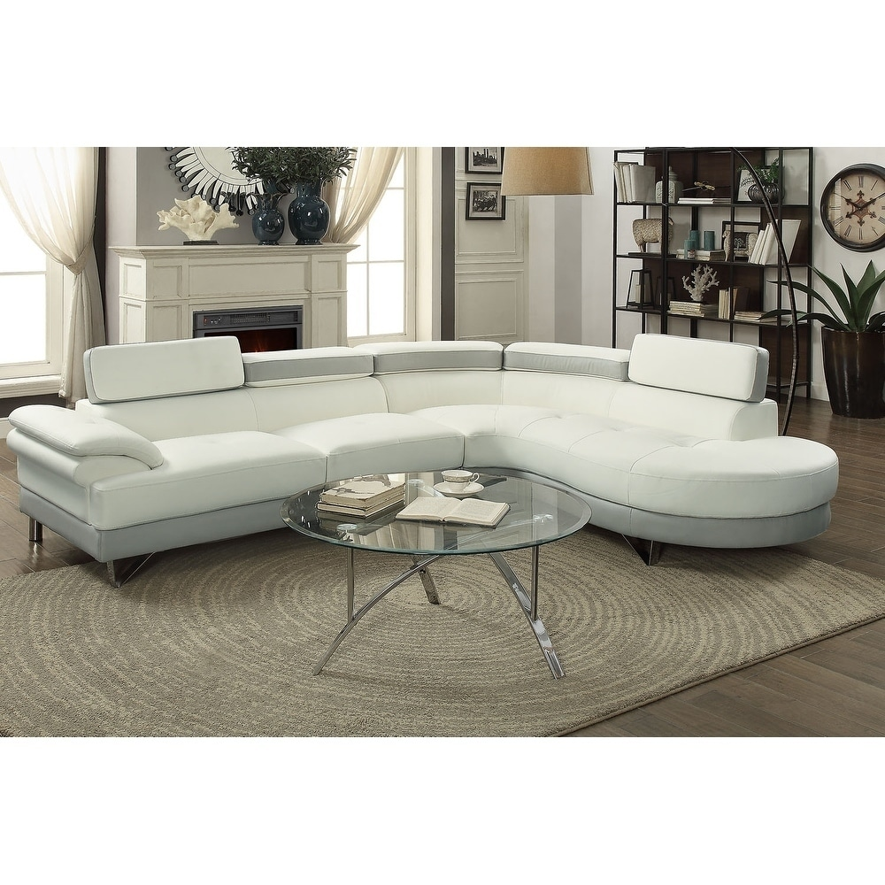 by the sofa gray poundex sectional set and ottoman of fresh blue new pcs bobkona graphics