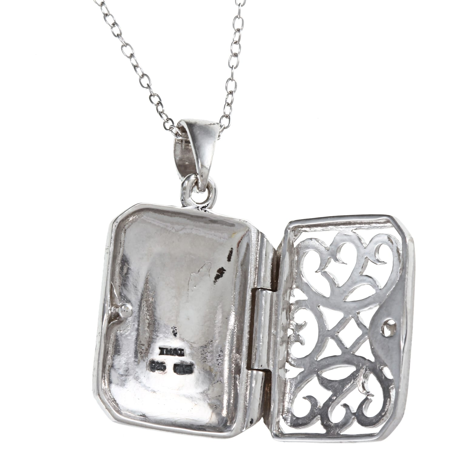 with print locket ip shaped sterling com silver lockets paw heart walmart