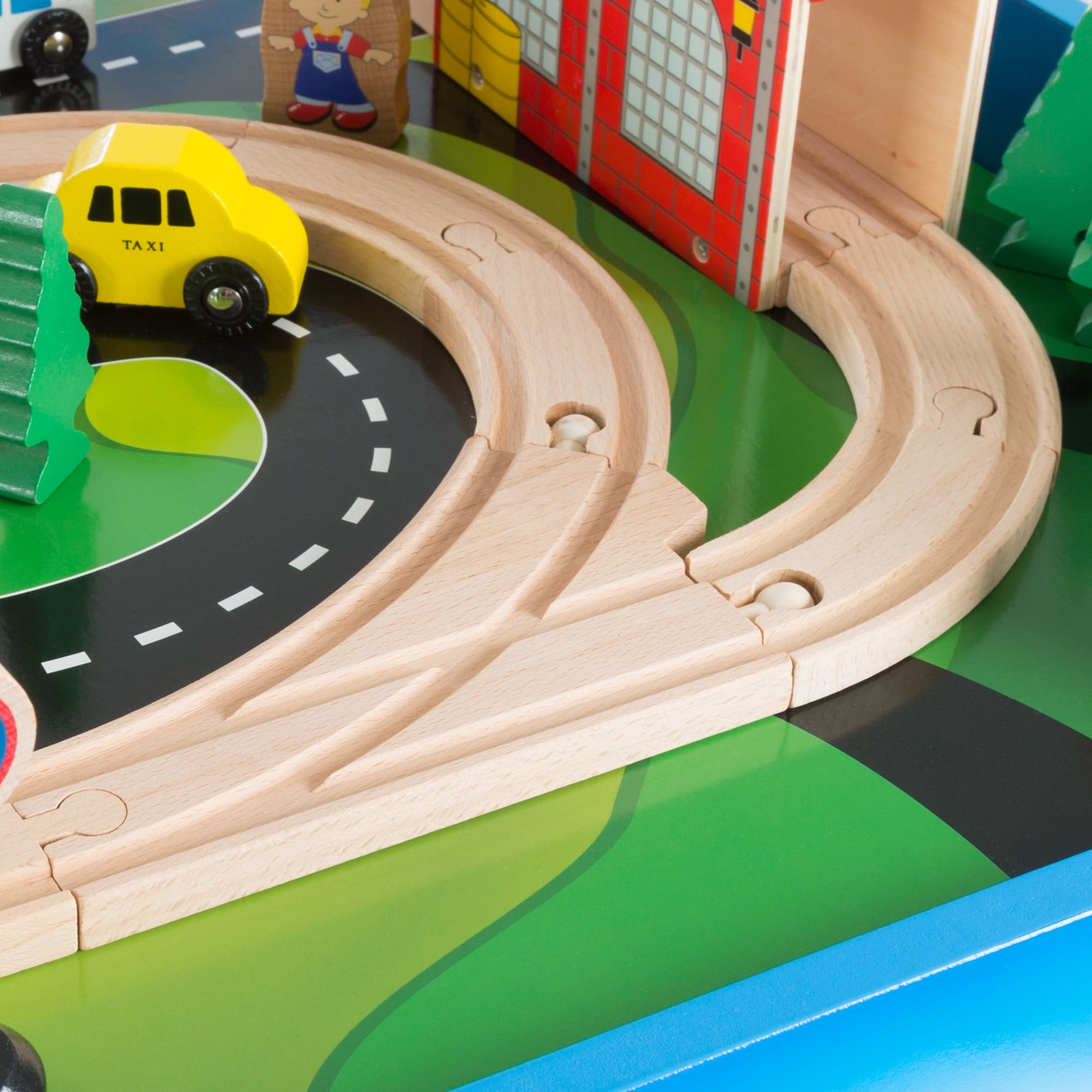 Wooden Train Set Table For Kids Deluxe Had Painted By Hey Play On Free Shipping Today 18736375