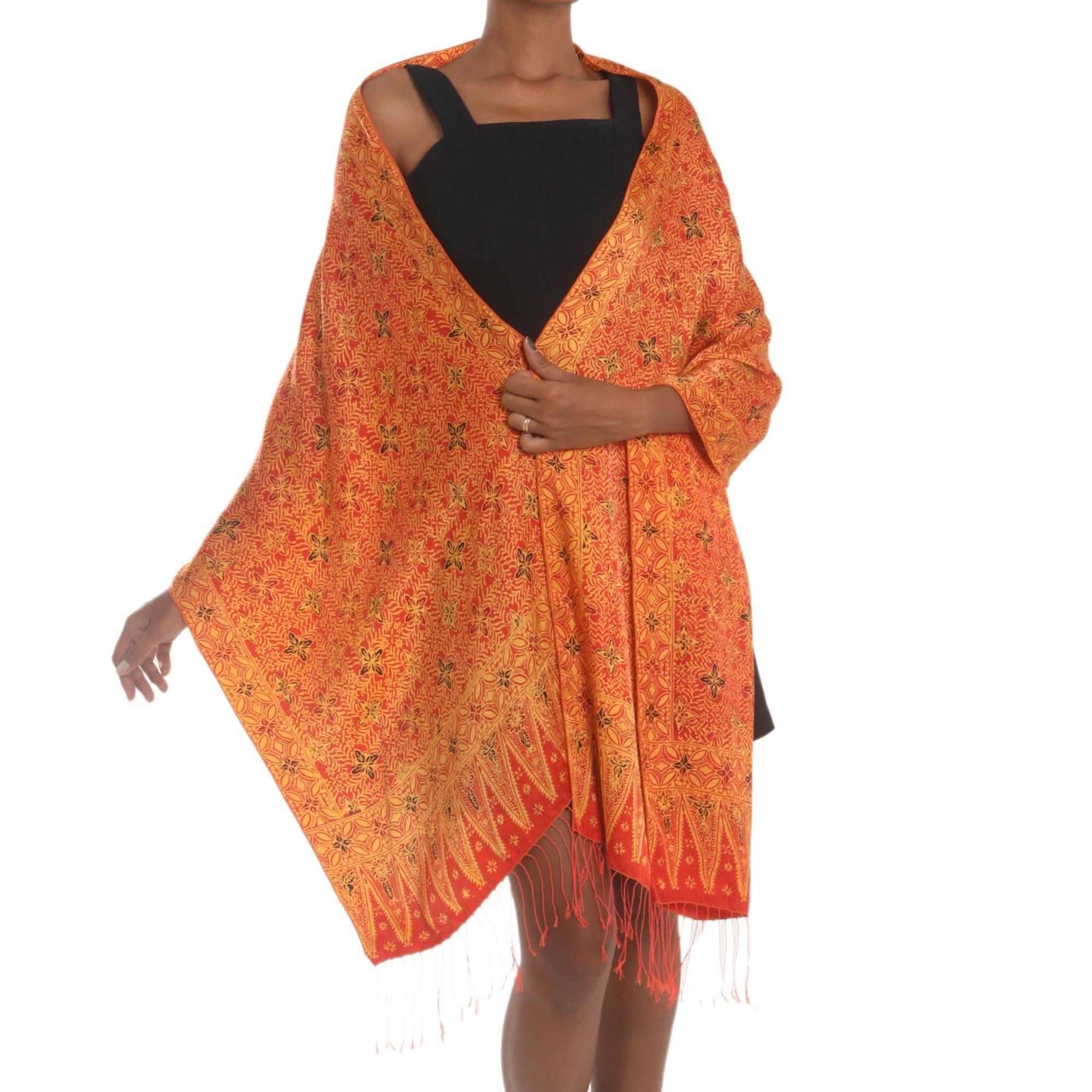 d6605174da0c Shop Handmade Silk  Serene Garden  Shawl (Indonesia) - Free Shipping ...