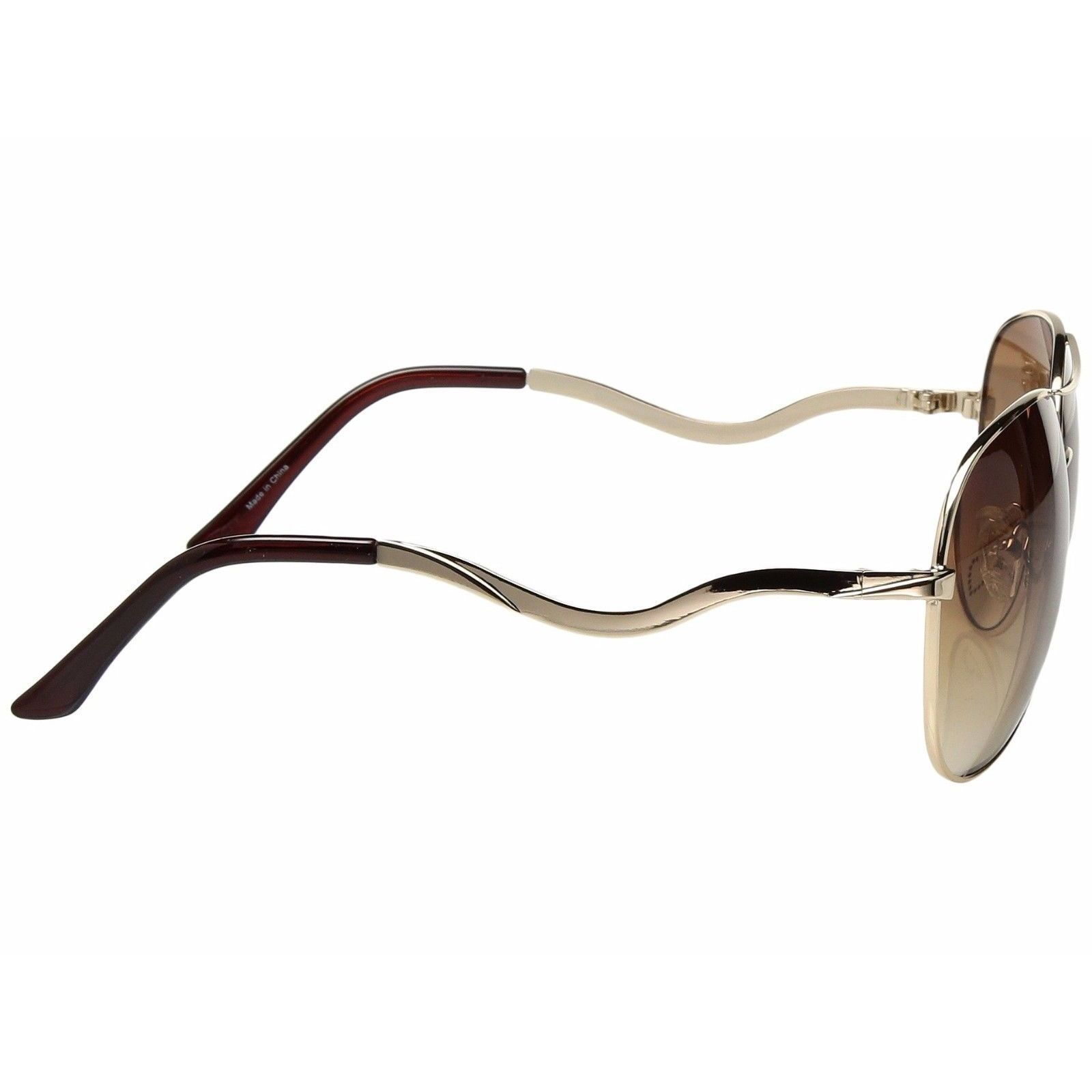 e73ef1337a2cb Shop Guess Aviator 7021 Womens Brown Frame Gold Lens Sunglasses - Free  Shipping Today - Overstock - 18744840
