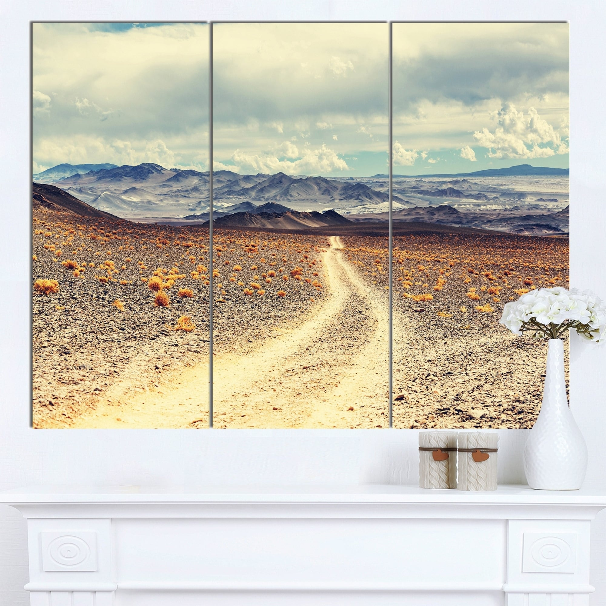 Shop Designart \'Dry Grass and Mountains in Argentina\' Oversized ...