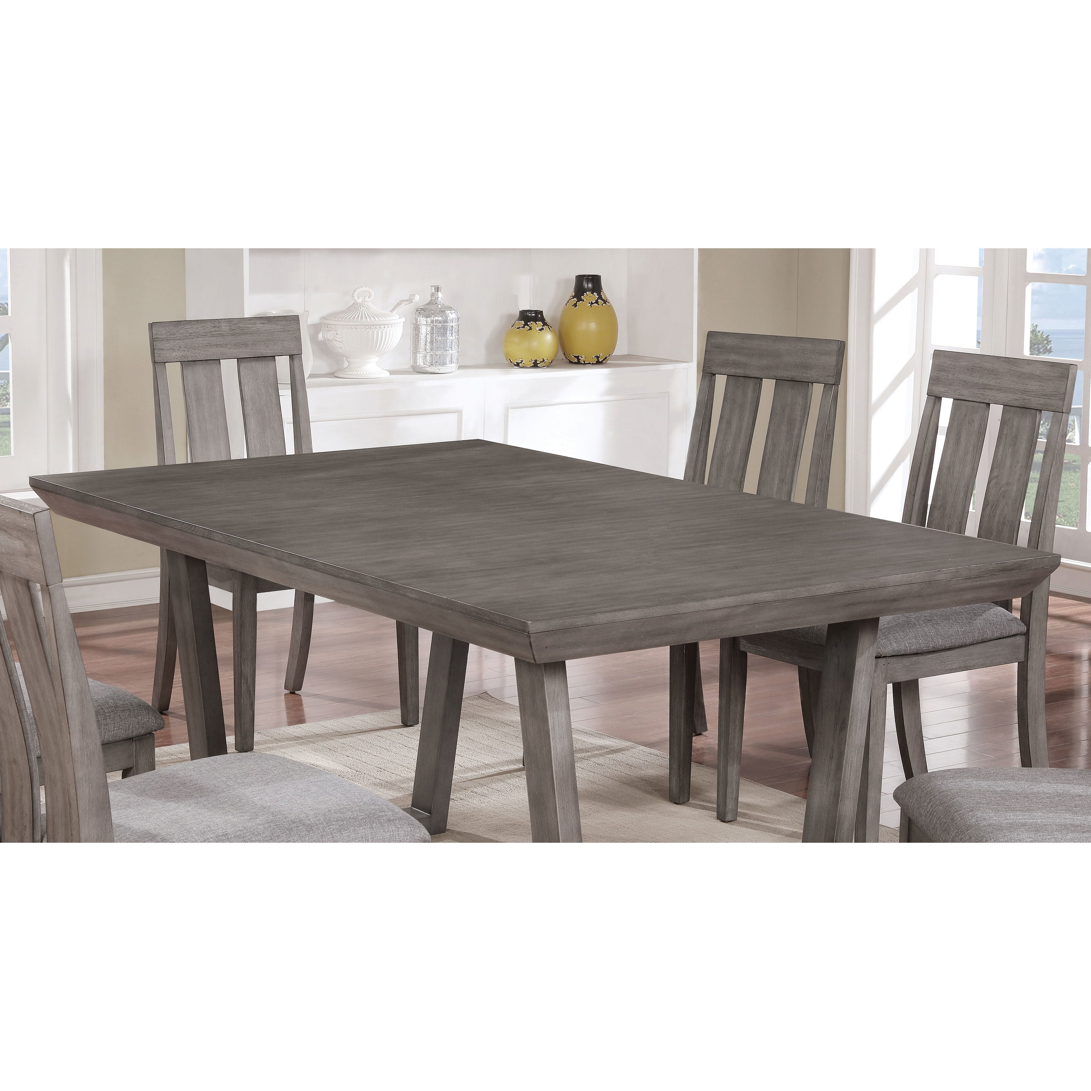 Shop Furniture Of America Galicia Rustic Weathered Grey Wood Inch - 68 inch dining table