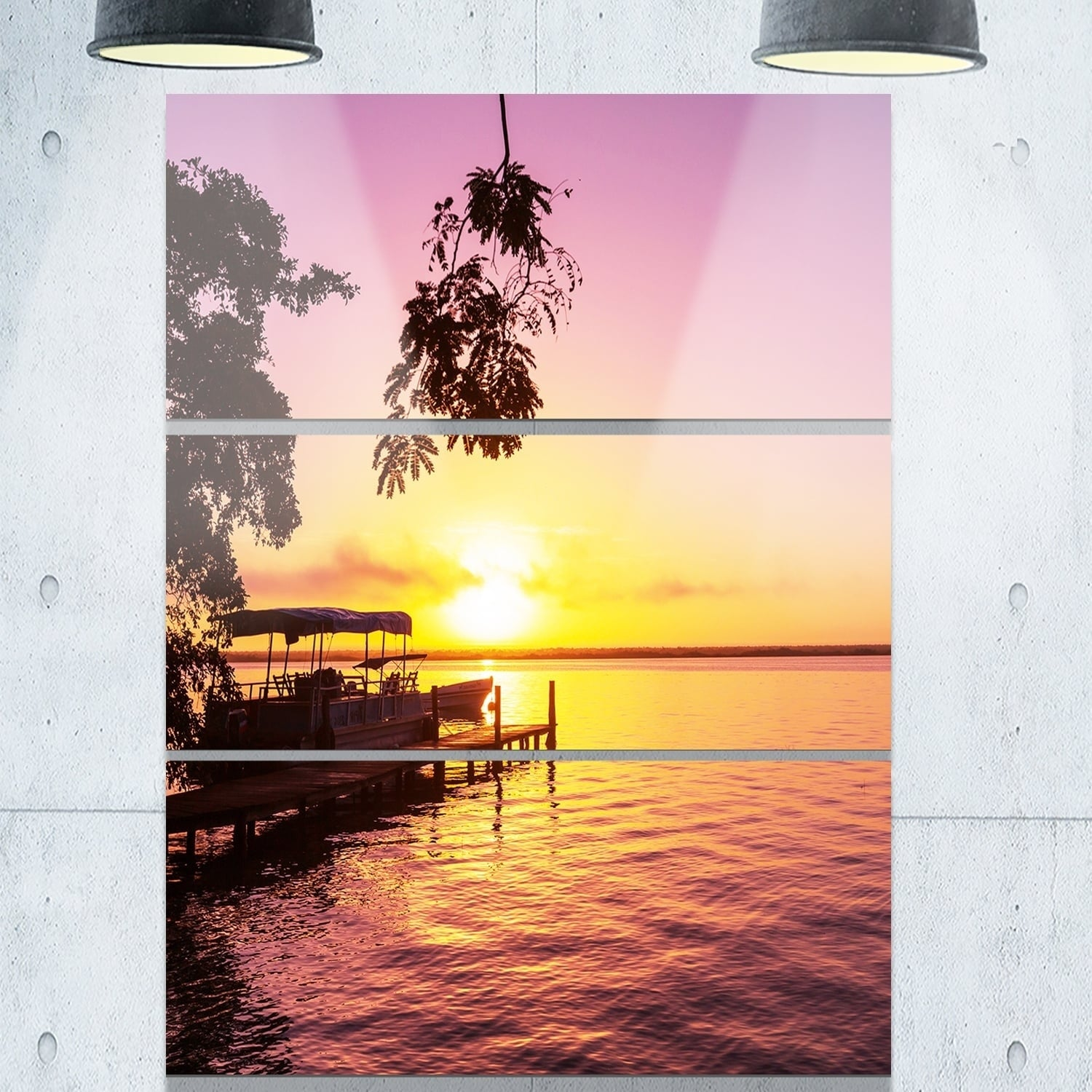 Designart \'Tropical Beach with Fantastic Sunset\' Extra Large ...