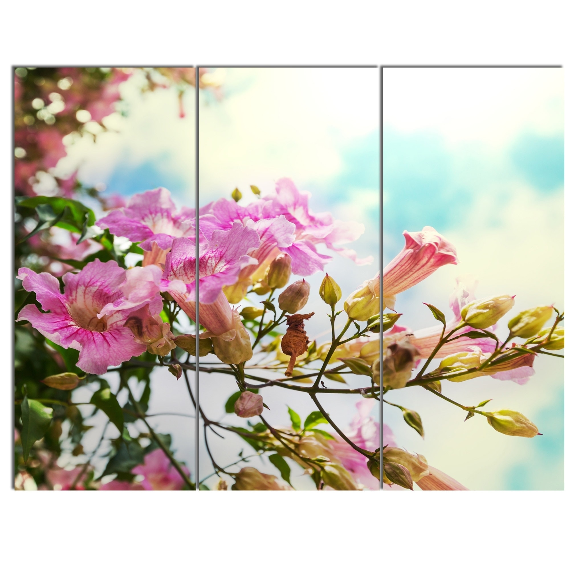 Designart pink flowers in hawaiian garden large flower glossy designart pink flowers in hawaiian garden large flower glossy metal wall art free shipping today overstock 24826421 izmirmasajfo Gallery