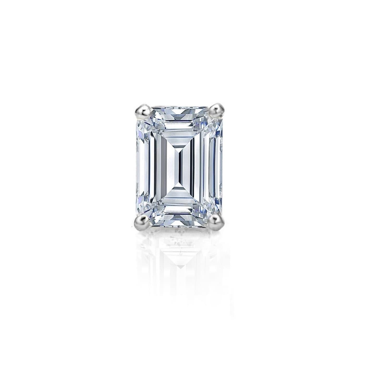 624da8125 Pori Jewelers Swarovski® Crystal & Sterling Silver Emerald-Cut Stud Earrings