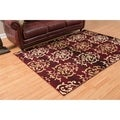Westfield Home Montclaire Germaine Burgundy Area Rug (7'10 x 10'6)