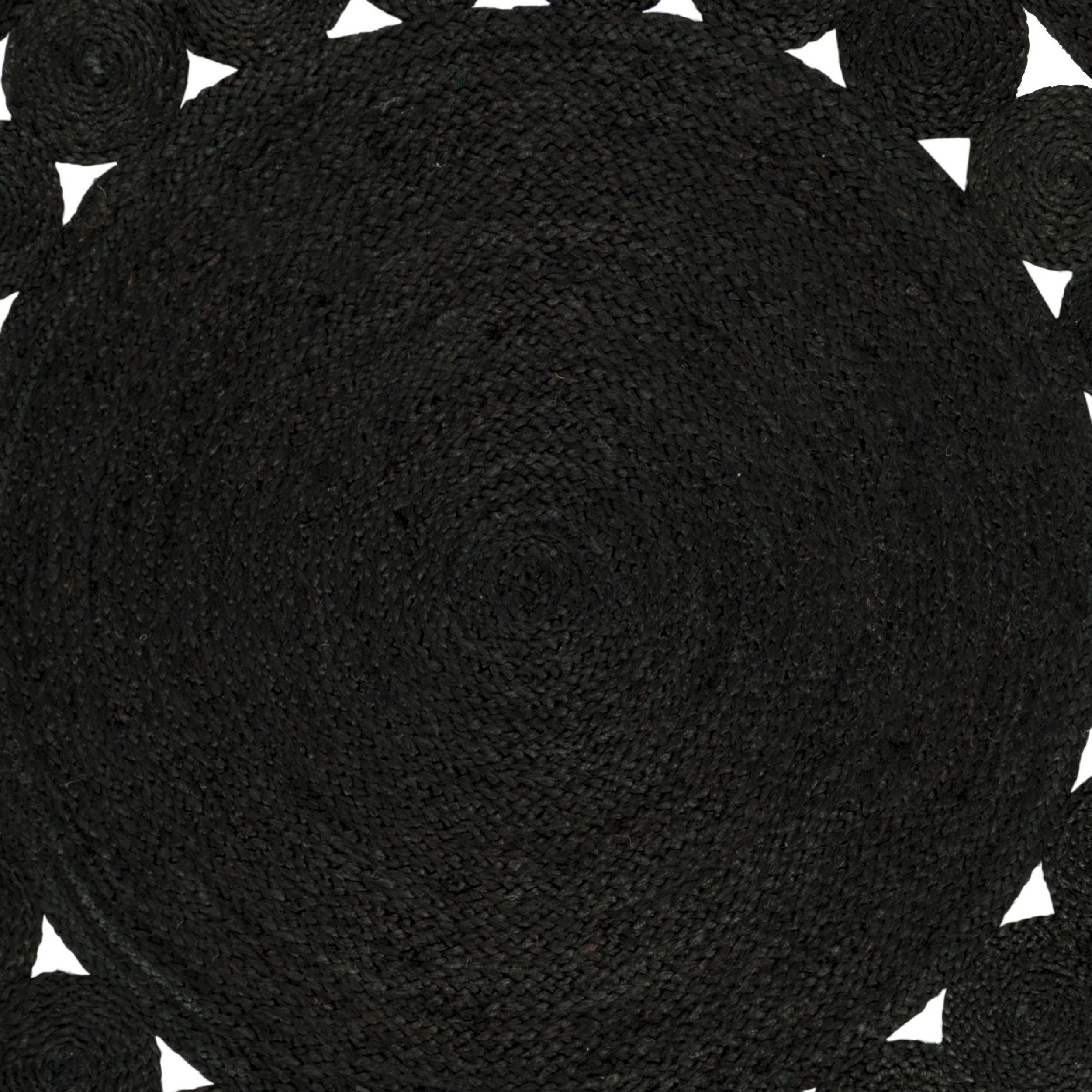 Safavieh Hand Woven Natural Fiber Black Jute Rug 4 X Round On Free Shipping Today Com 18756157