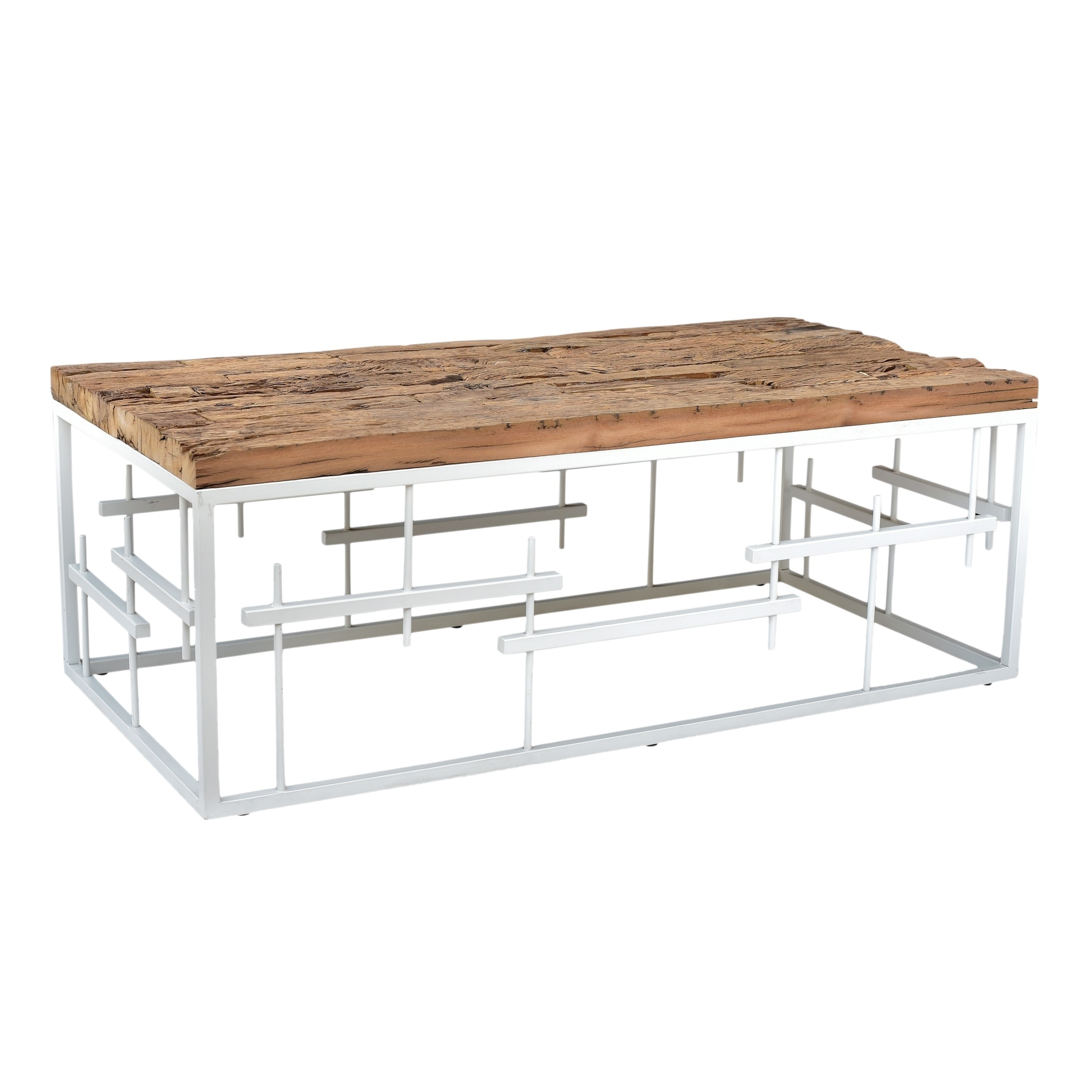 Shop aurelle home rustic modern white solid wood coffee table on sale free shipping today overstock com 18756430