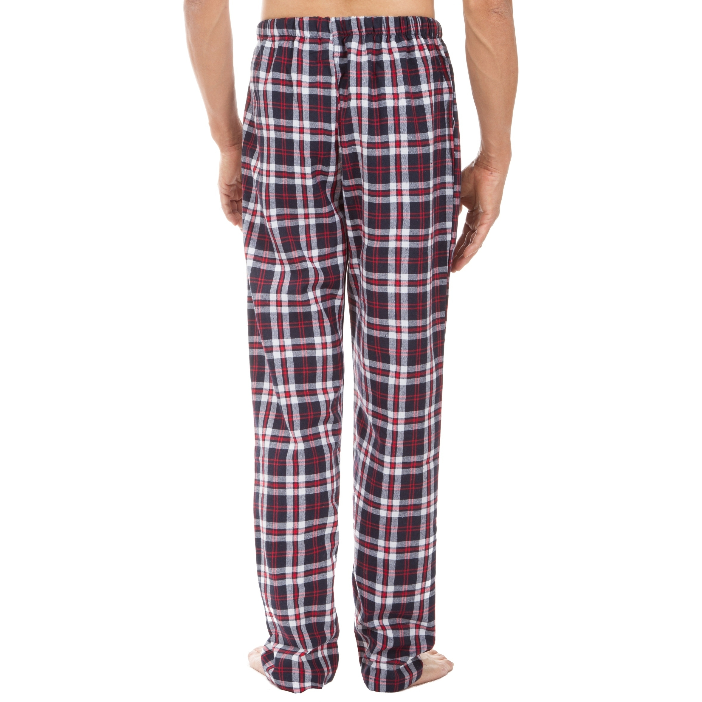 e9f2b4b2c17 Shop Leisureland Men s Red Plaid Pajama Pants - Free Shipping On Orders  Over  45 - Overstock - 18768209