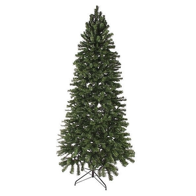 shop 8 slim norway spruce artificial unilt christmas tree free shipping today overstockcom 18778606