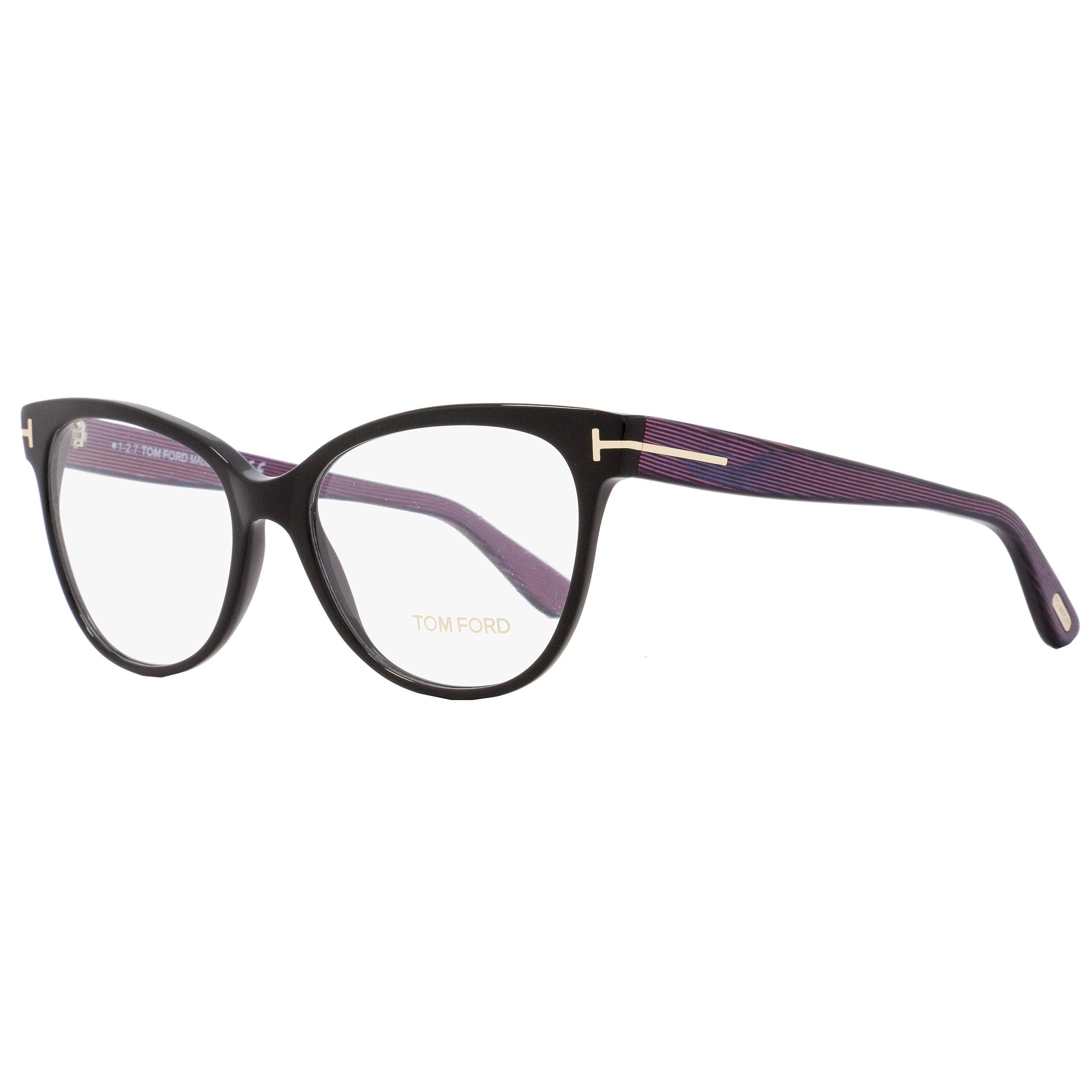 b55fc1f90cc94 Shop Tom Ford TF5291 005 Womens Black Iridescent Chalkstripe 55 mm  Eyeglasses - Free Shipping Today - Overstock.com - 18778813