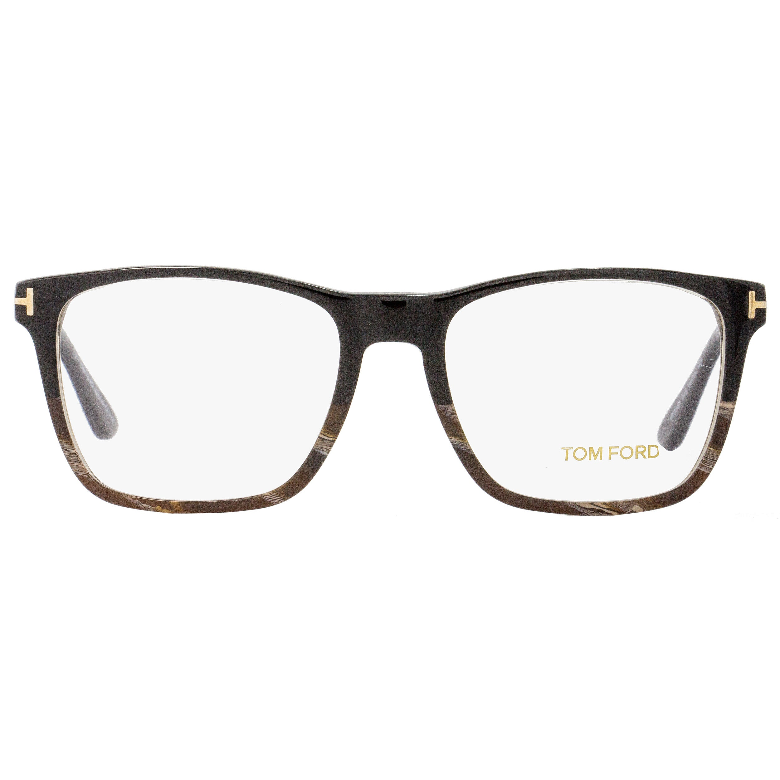 6e02a9b88b3b Shop Tom Ford TF5351 005 Unisex Black Horn Gold 54 mm Eyeglasses - Free  Shipping Today - Overstock - 18778814