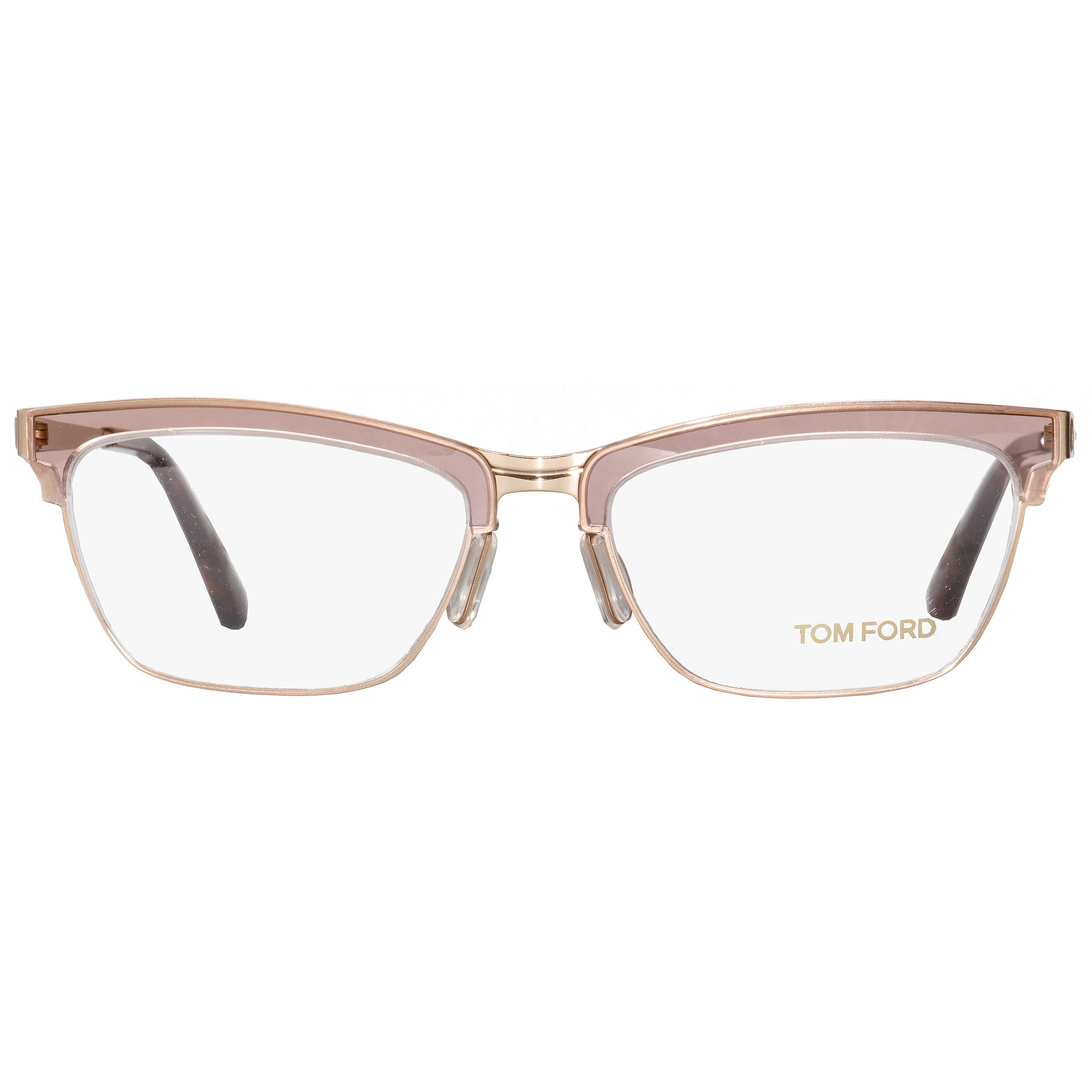 d5b141fb18c Shop Tom Ford TF5392 050 Womens Transparent Brown Gold 54 mm Eyeglasses -  Free Shipping Today - Overstock - 18778820