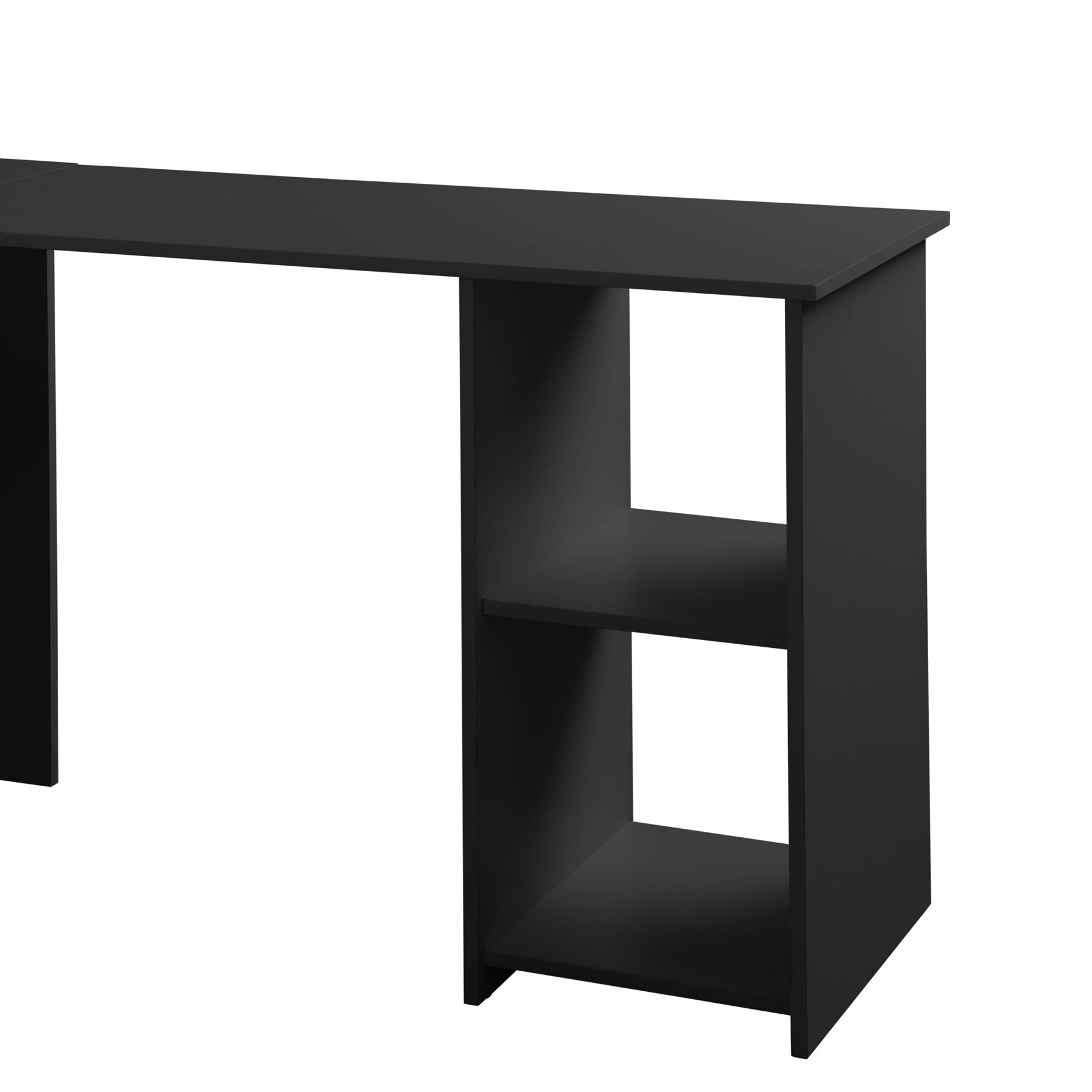 Attrayant Shop Fineboard L Shaped Office Corner Desk 2 Side Shelves   Free Shipping  Today   Overstock.com   18778846