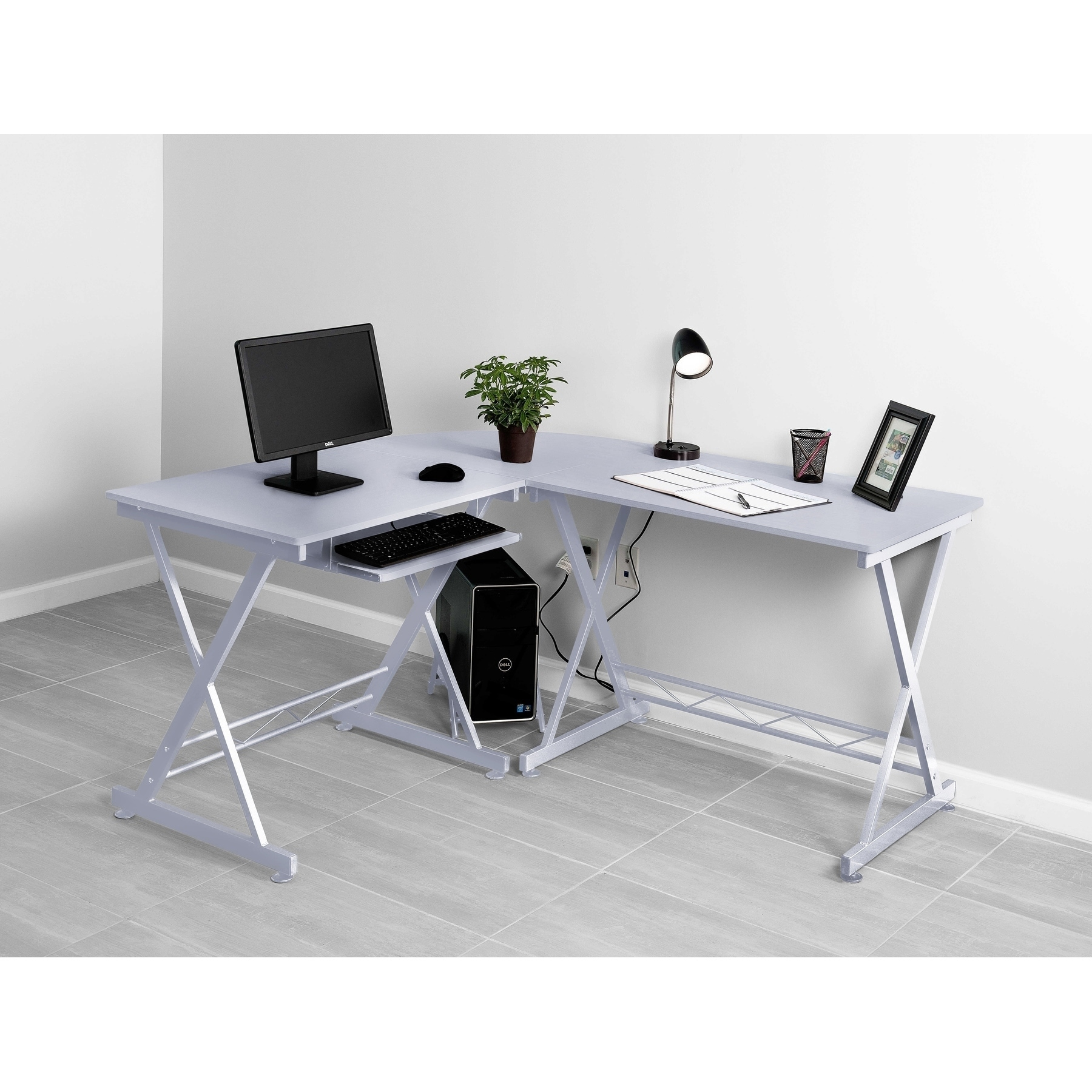 Shop Fineboard Home Office L-Shaped Corner Desk - Free Shipping ...