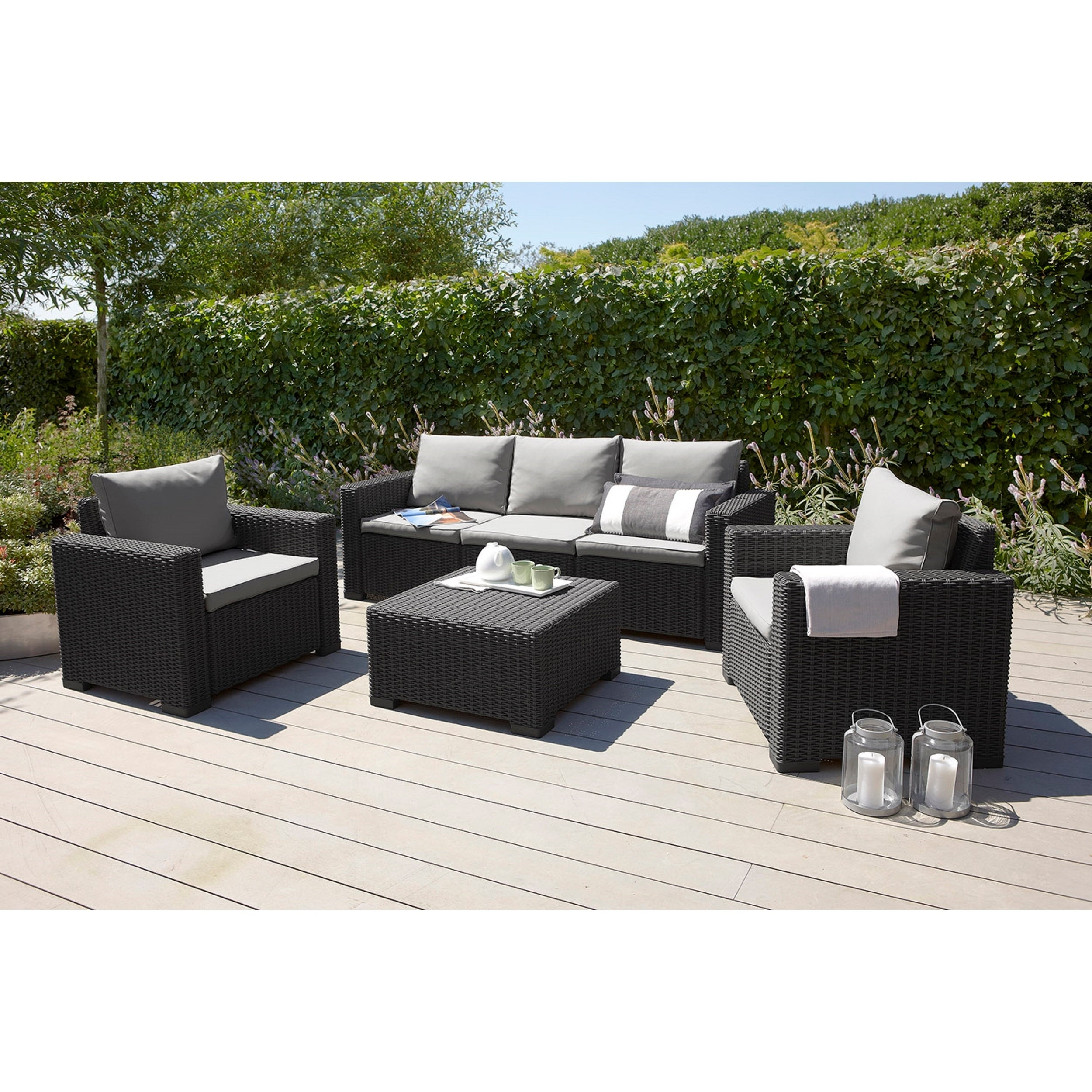 Keter California All Weather Resin Outdoor Patio Coffee Table