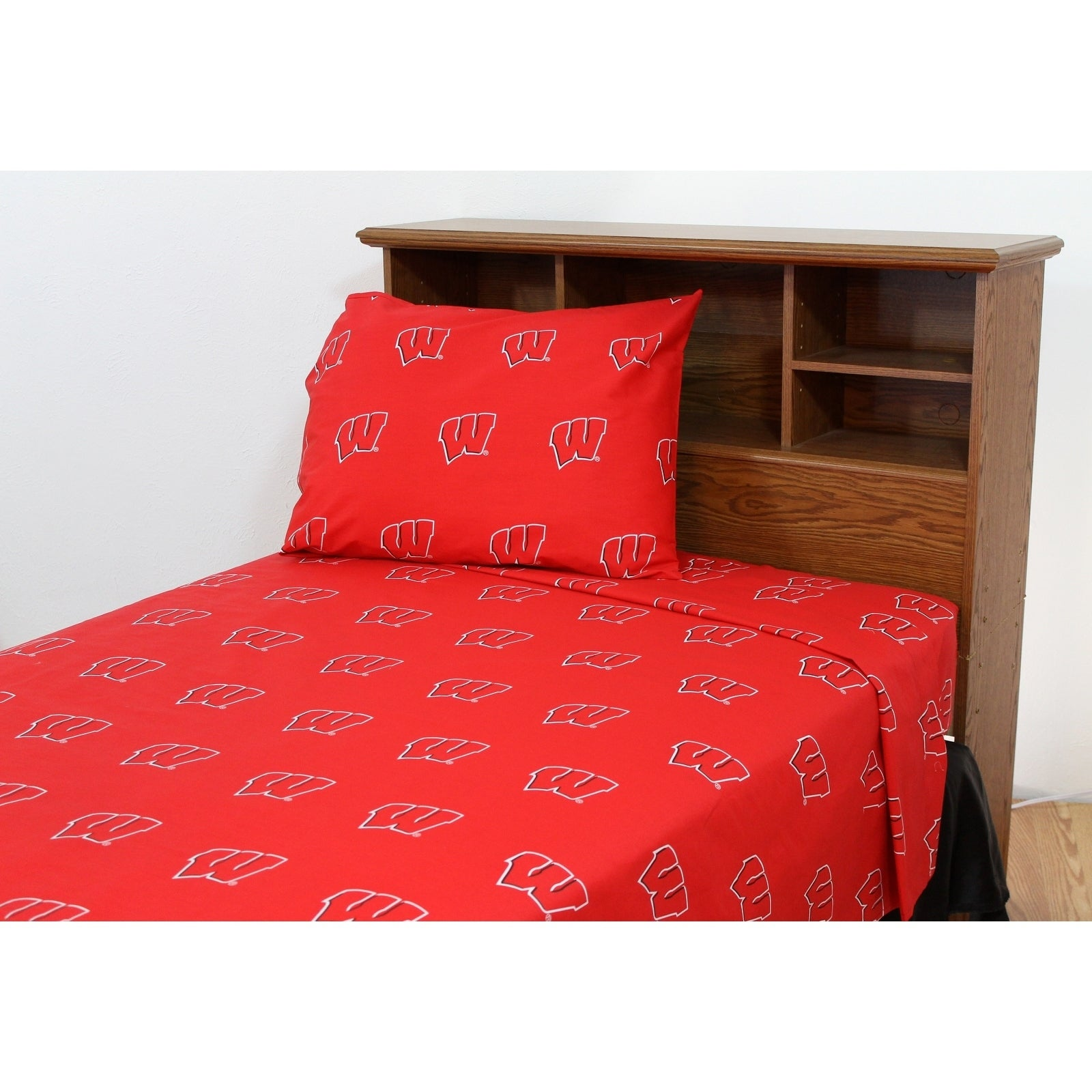 Wisconsin Badgers 100 Cotton Sheet Set Free Shipping Today 18794008