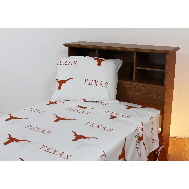 Texas Longhorns 100% Cotton Sheet Set - Free Shipping Today ...