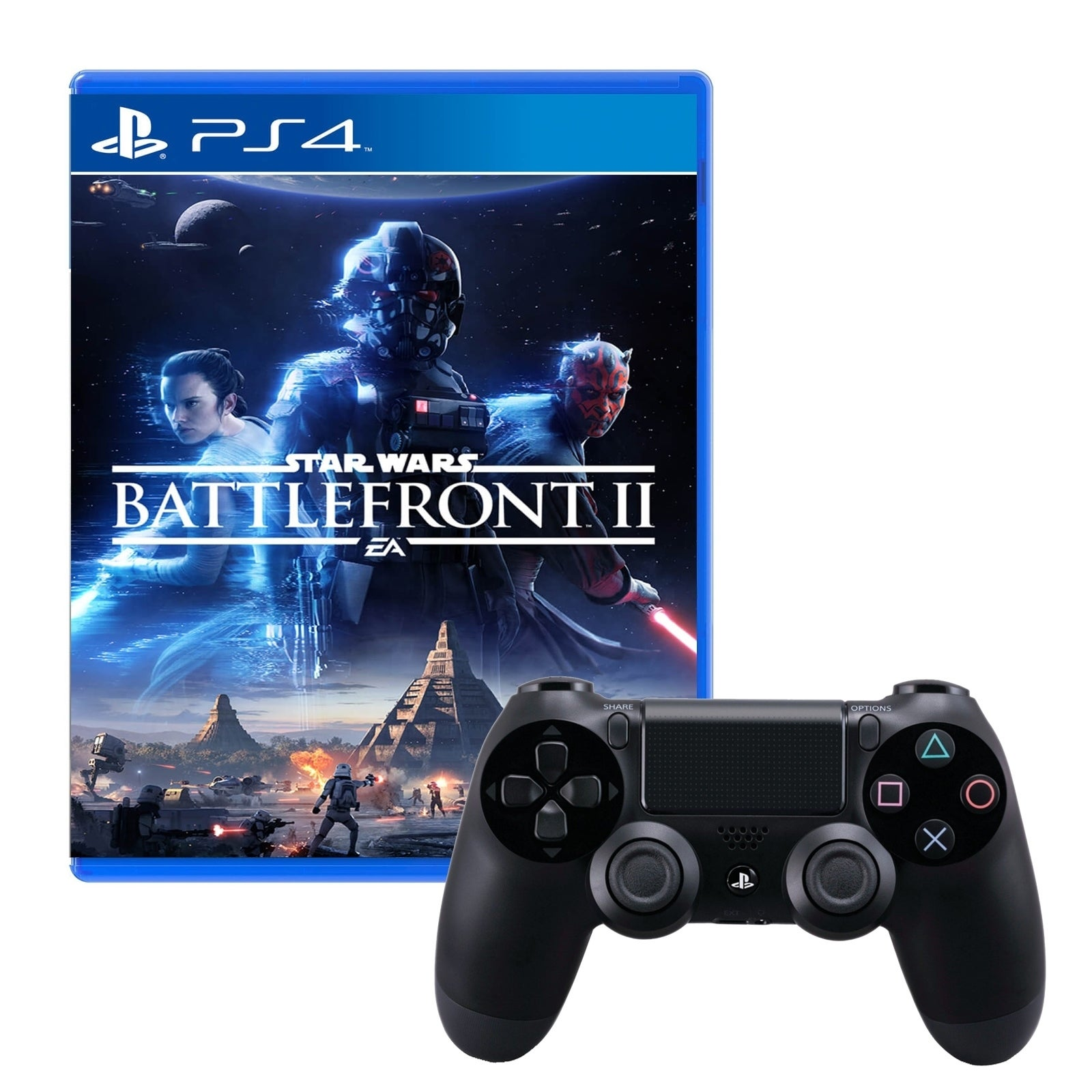 Shop Dualshock 4 Wireless Controller With Star Wars Battlefront 2 Ds4 New Dual Shock Light Blue Model Game Free Shipping Today 18794440