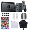 Nintendo Switch in Gray with Mario Kart 8 Deluxe and Accessories Bundle