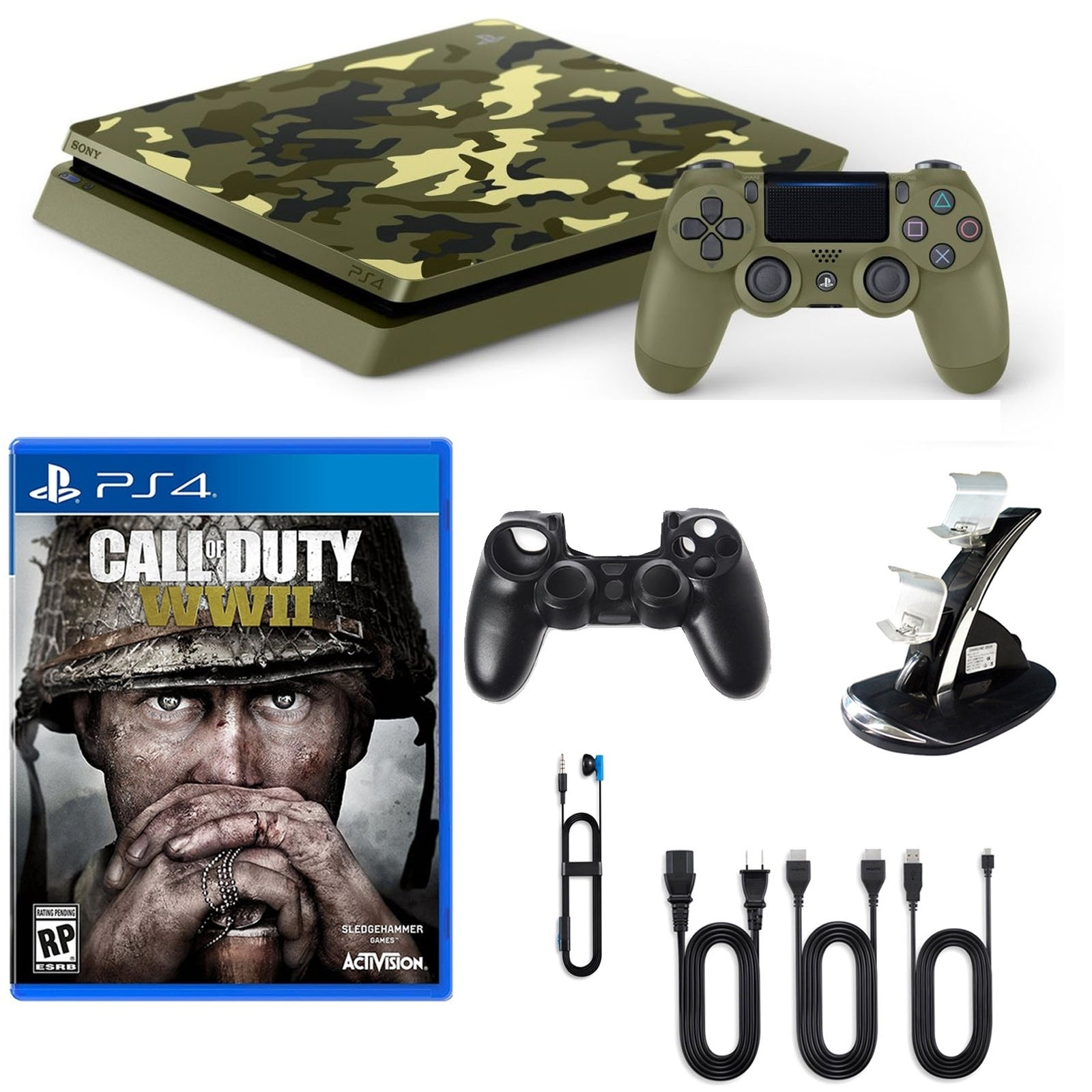Shop PlayStation 4 1TB LE COD WWII Console with Game and Accessories ...