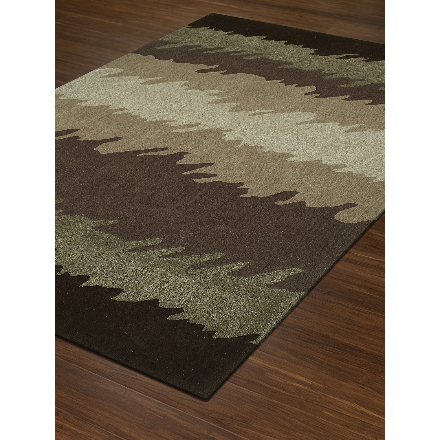 Addison Rugs Zenith Bold Stripe Abstract Brown/Ivory/Multicolored ...