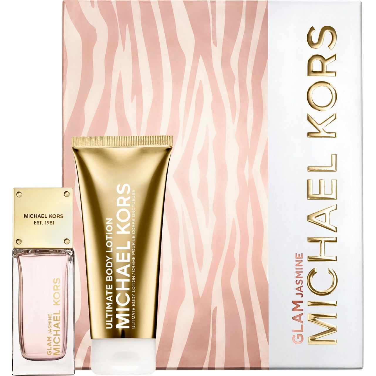 7608f4a0b0ff Shop Michael Kors Glam Jasmine Women s 2-piece Gift Set - Free Shipping  Today - Overstock - 18801610