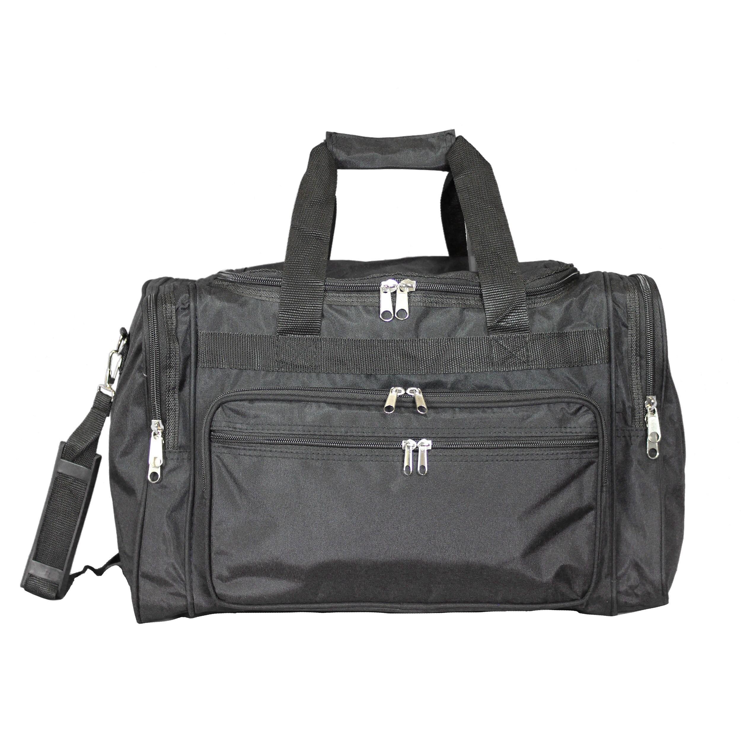 63b7402cbb21 World Traveler Black 16-Inch Lightweight Carry-On Duffle Bag
